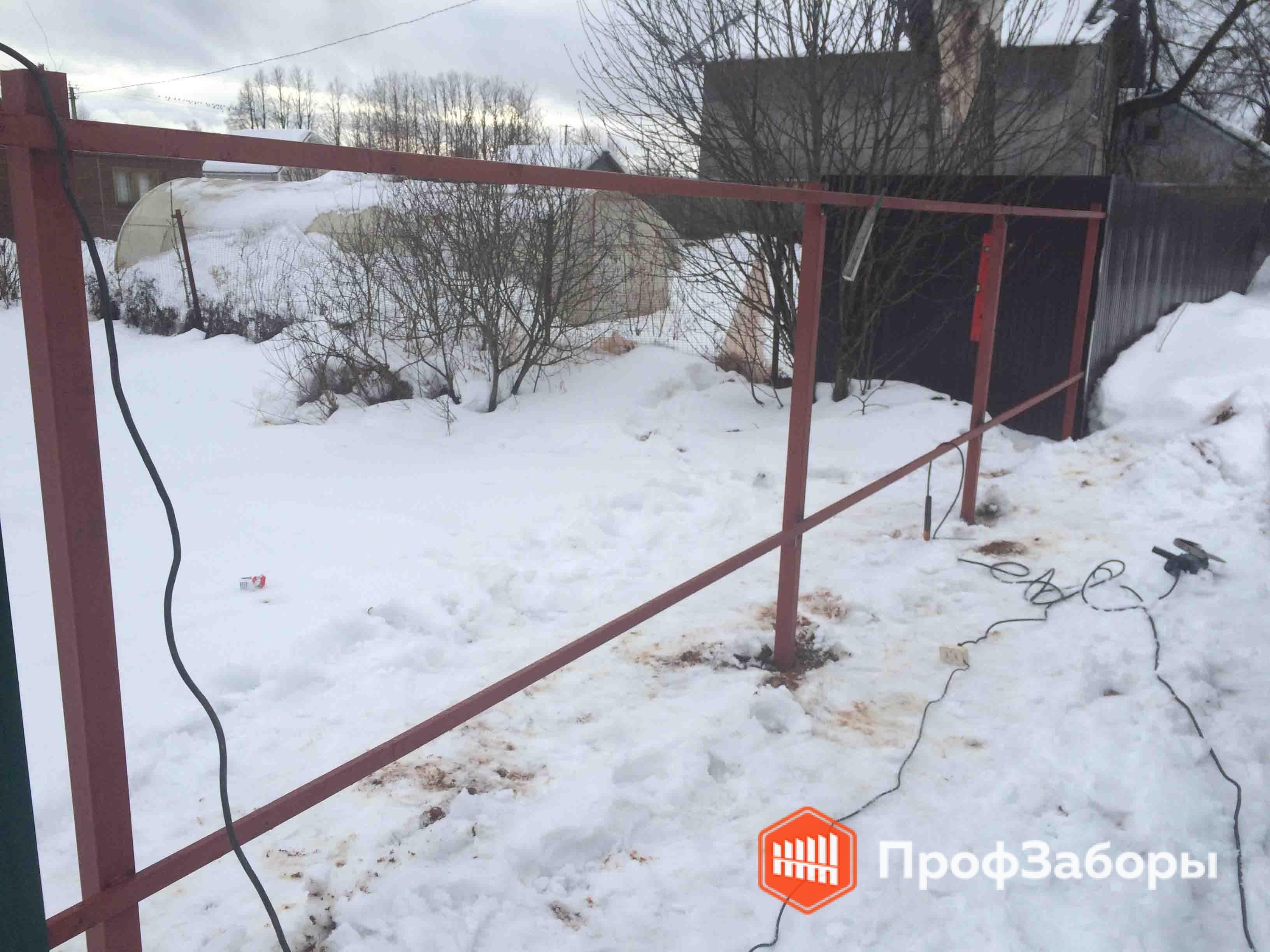 Заборы Из профнастила  - Щелковский район. Фото 4