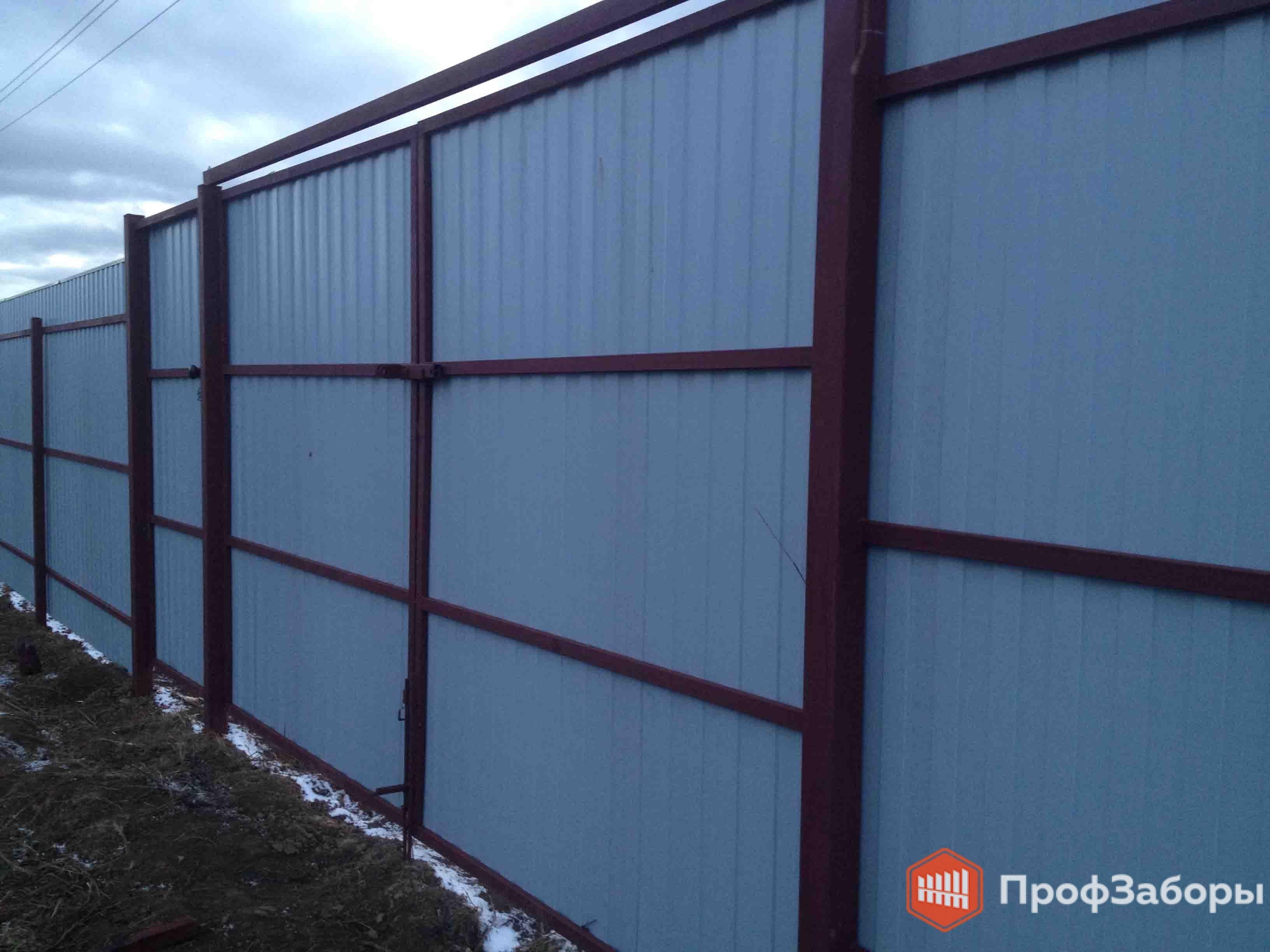 Заборы Из профнастила  - Посёлок городского типа Удельная. Фото 3