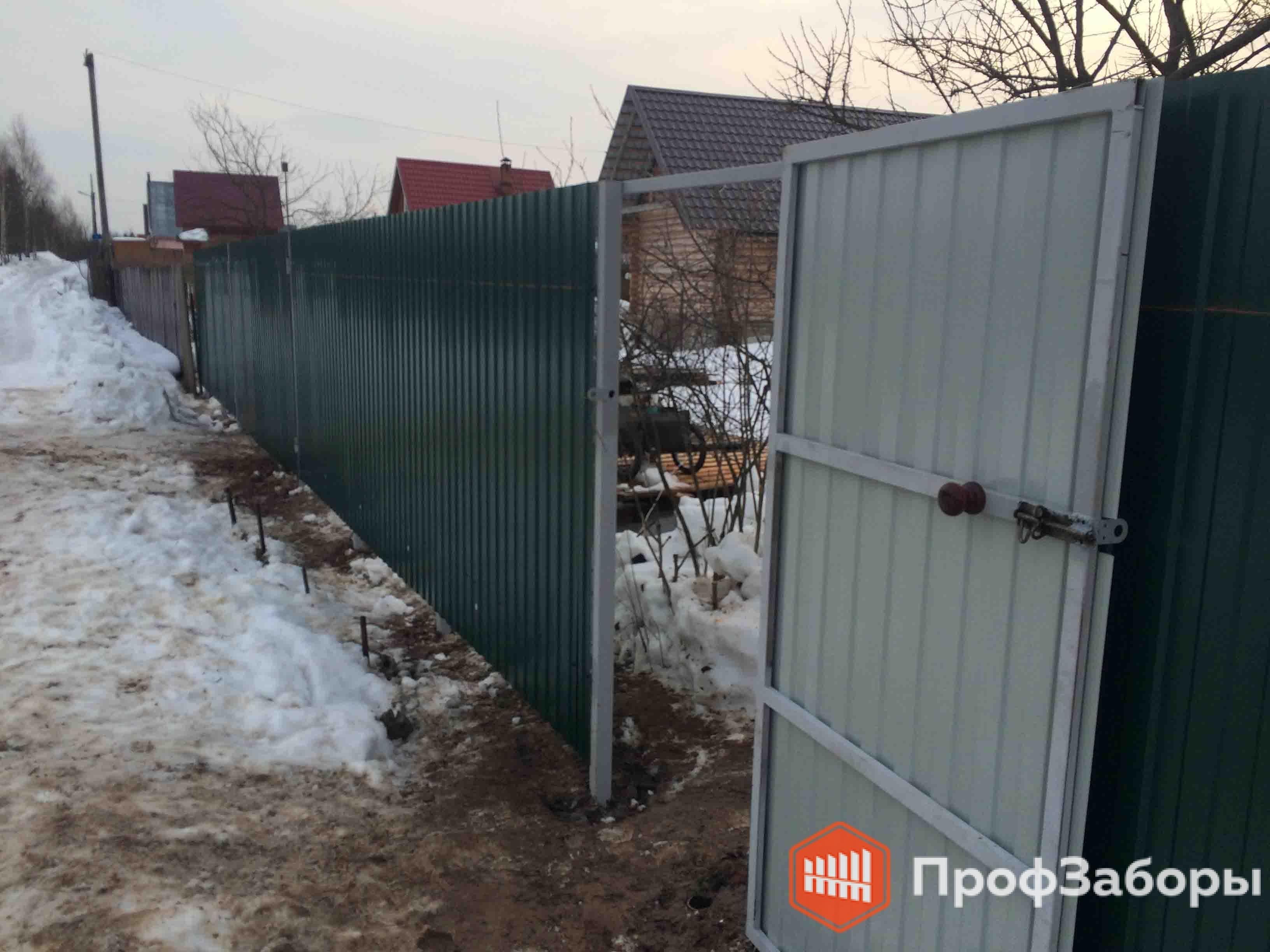 Заборы Из профнастила  - Можайский район. Фото 3
