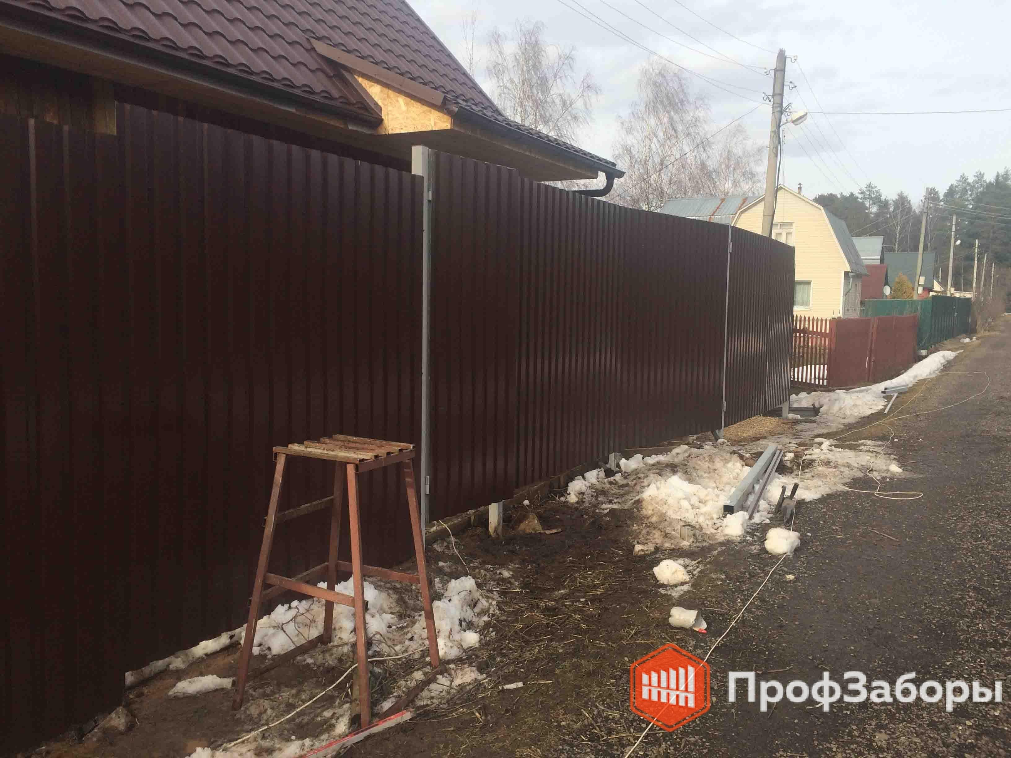 Заборы Из профнастила  - Владимирская область. Фото 3