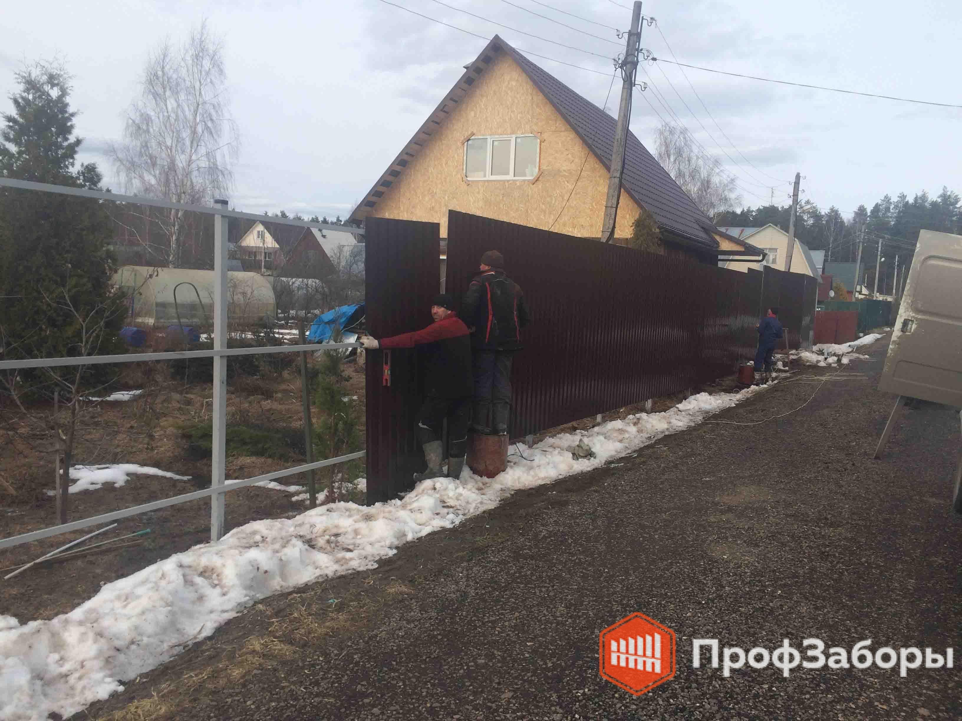 Заборы Из профнастила  - Владимирская область. Фото 4