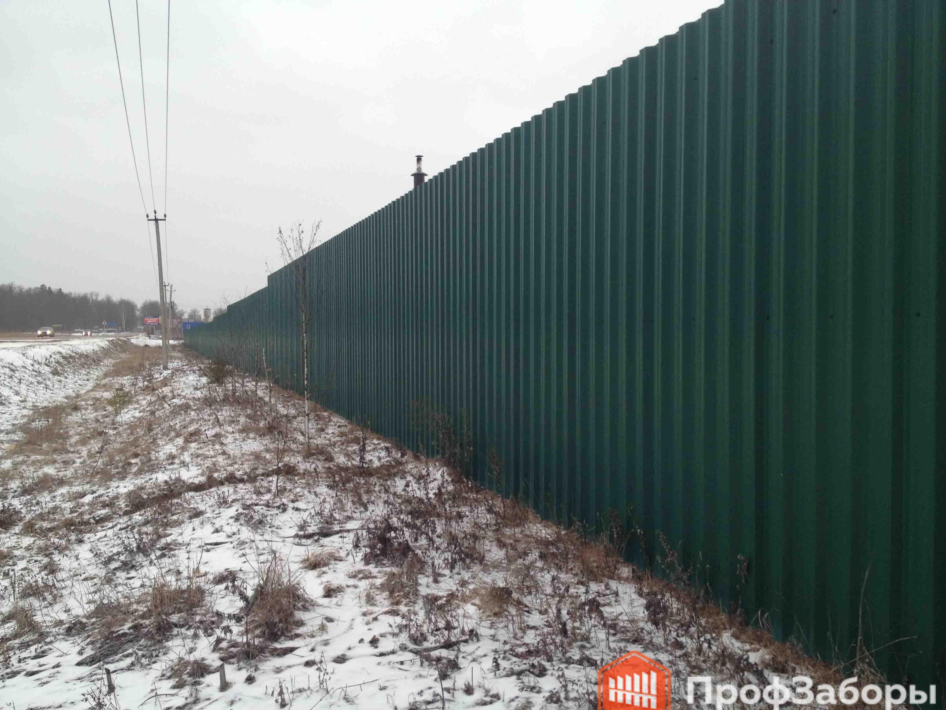 Заборы Из профнастила  - Город Дубна. Фото 4