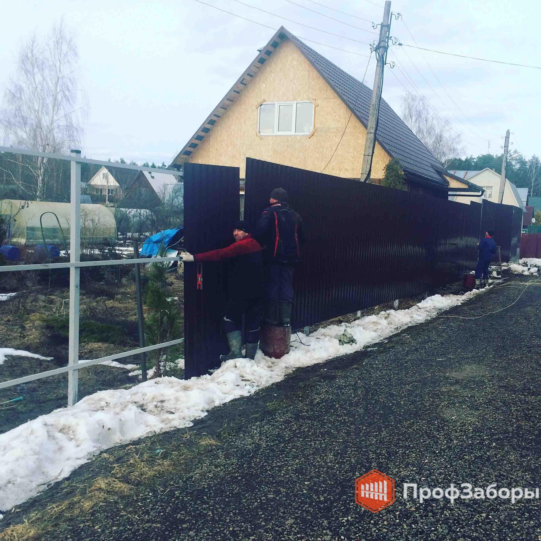 Заборы Из профнастила  - Деревня Борисово. Фото 4