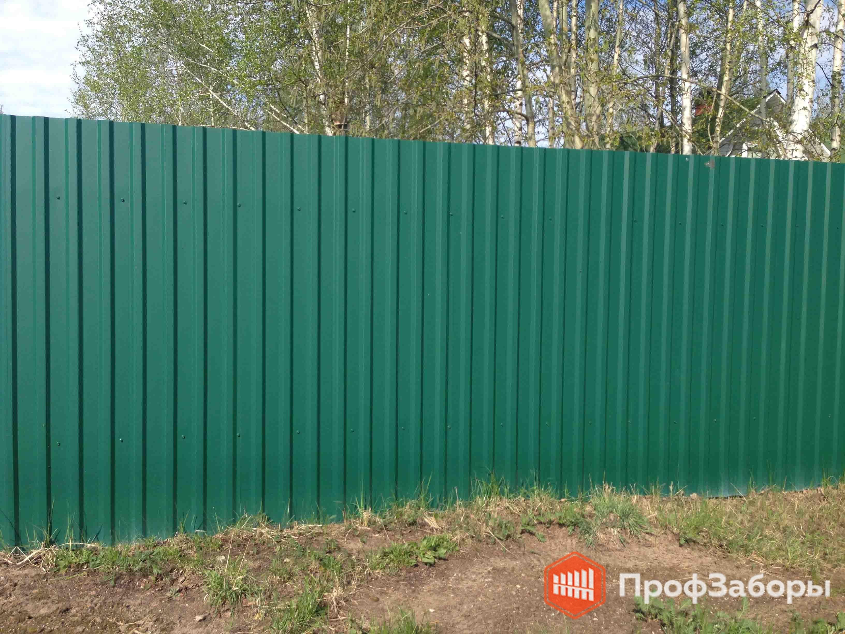 Заборы Из профнастила  - Рязанская область. Фото 2