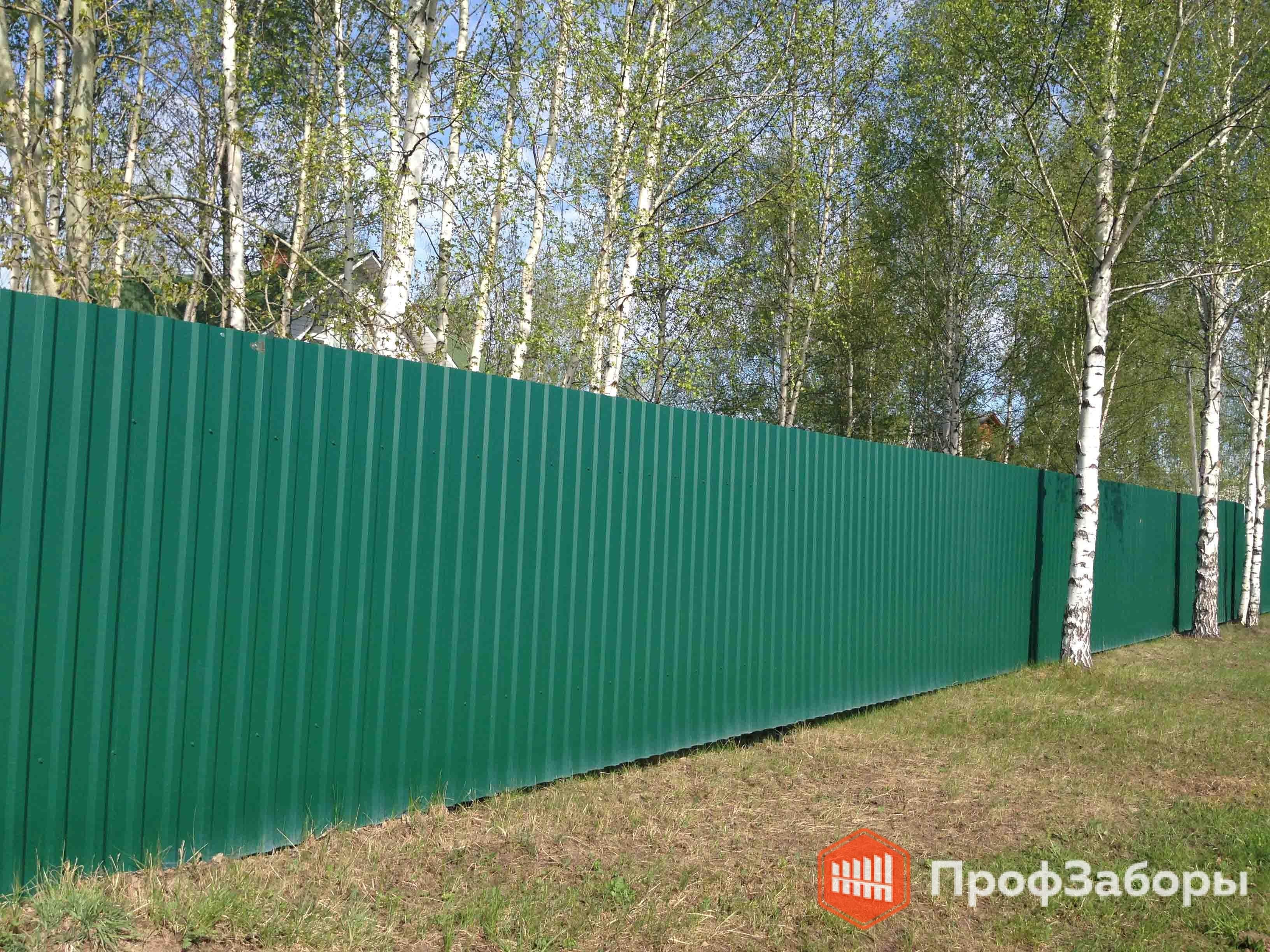 Заборы Из профнастила  - Рязанская область. Фото 4