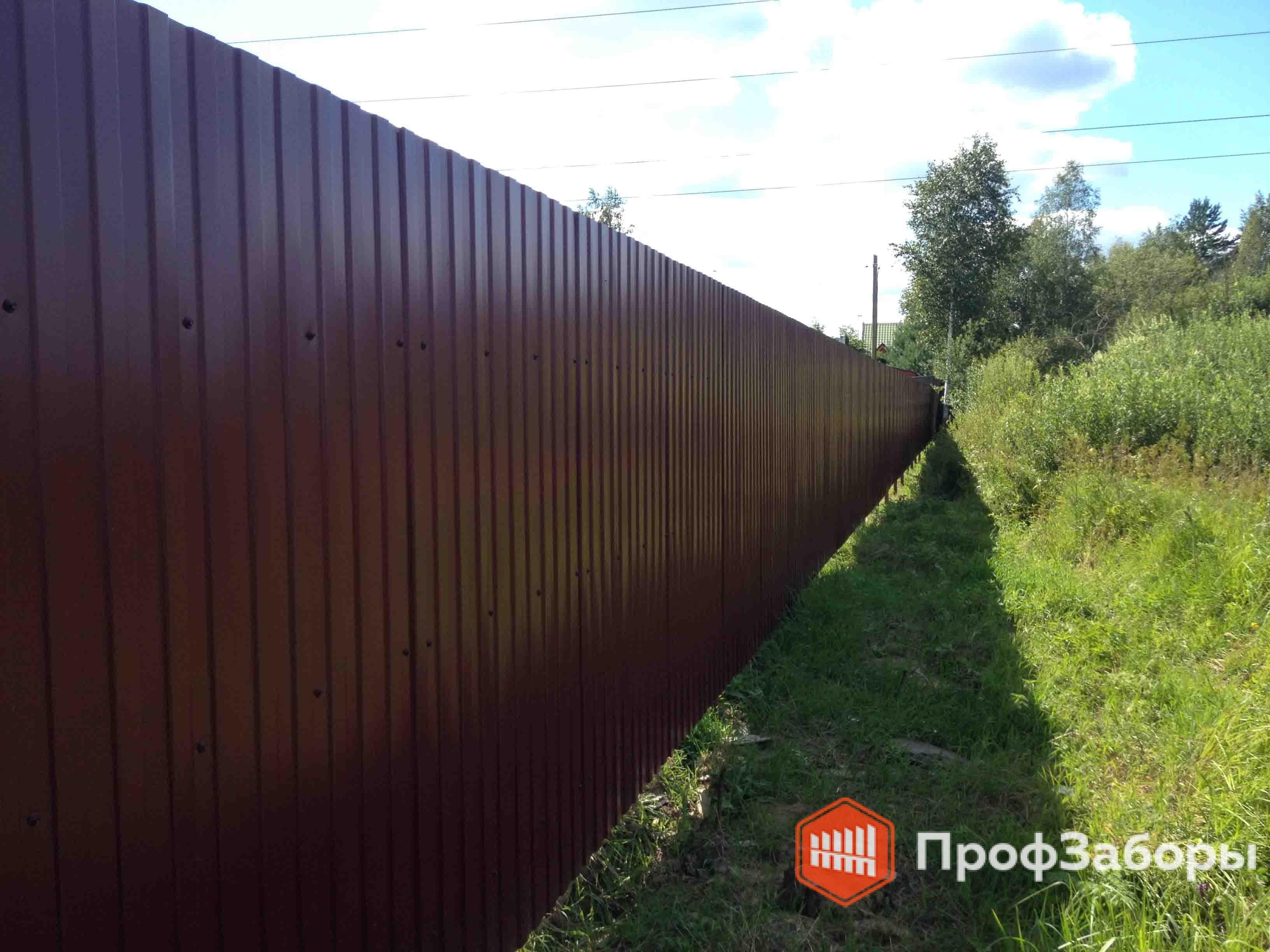 Заборы Из профнастила  - Волоколамский район. Фото 2