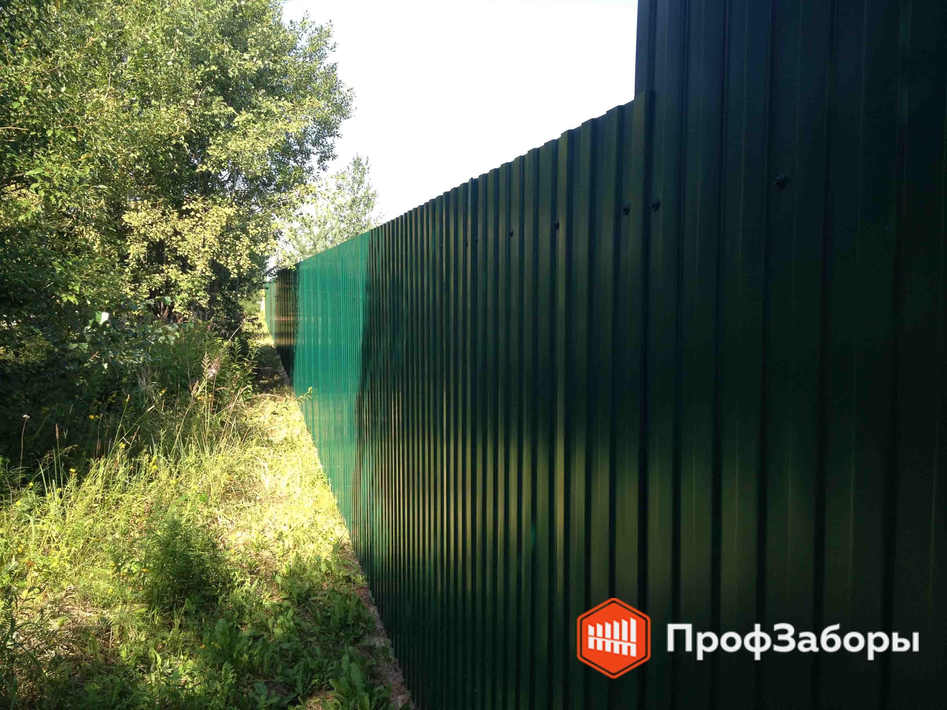 Заборы Из профнастила  - ОреховоЗуевский район. Фото 2