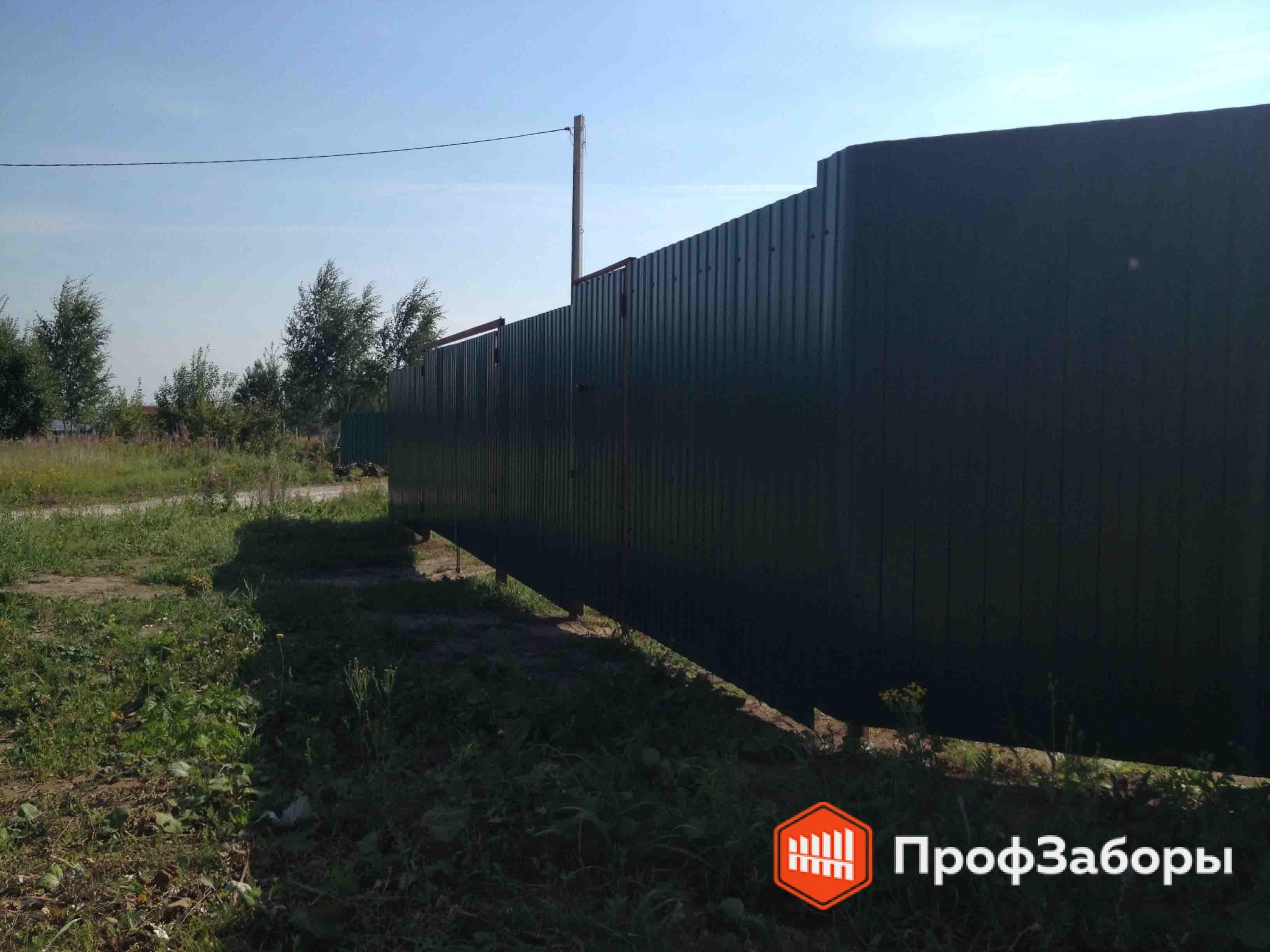Заборы Из профнастила  - ОреховоЗуевский район. Фото 3