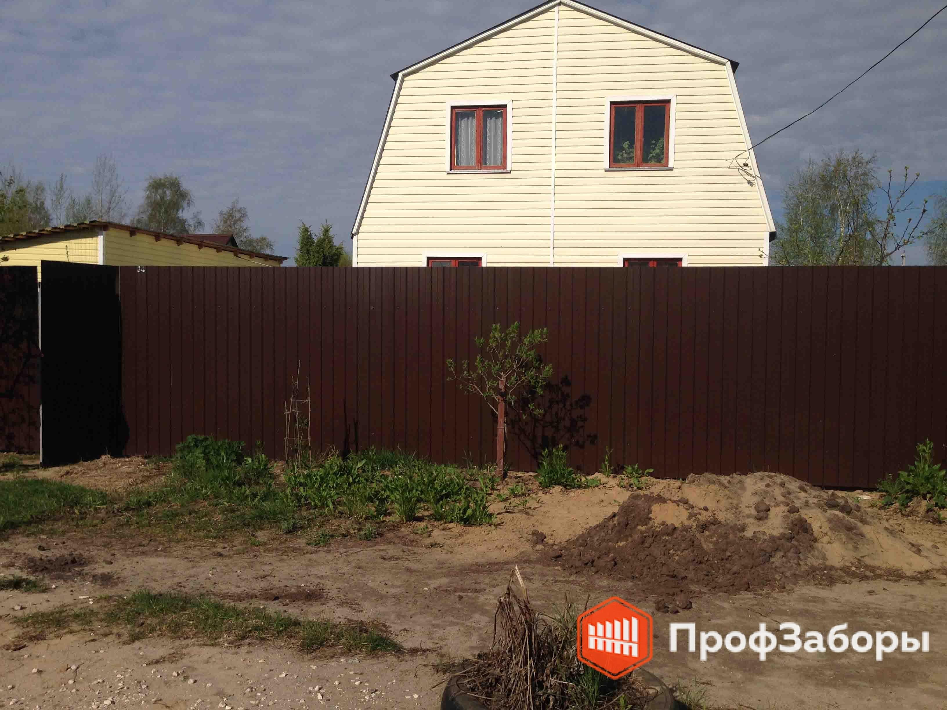 Заборы Из профнастила  - Одинцовский район. Фото 2