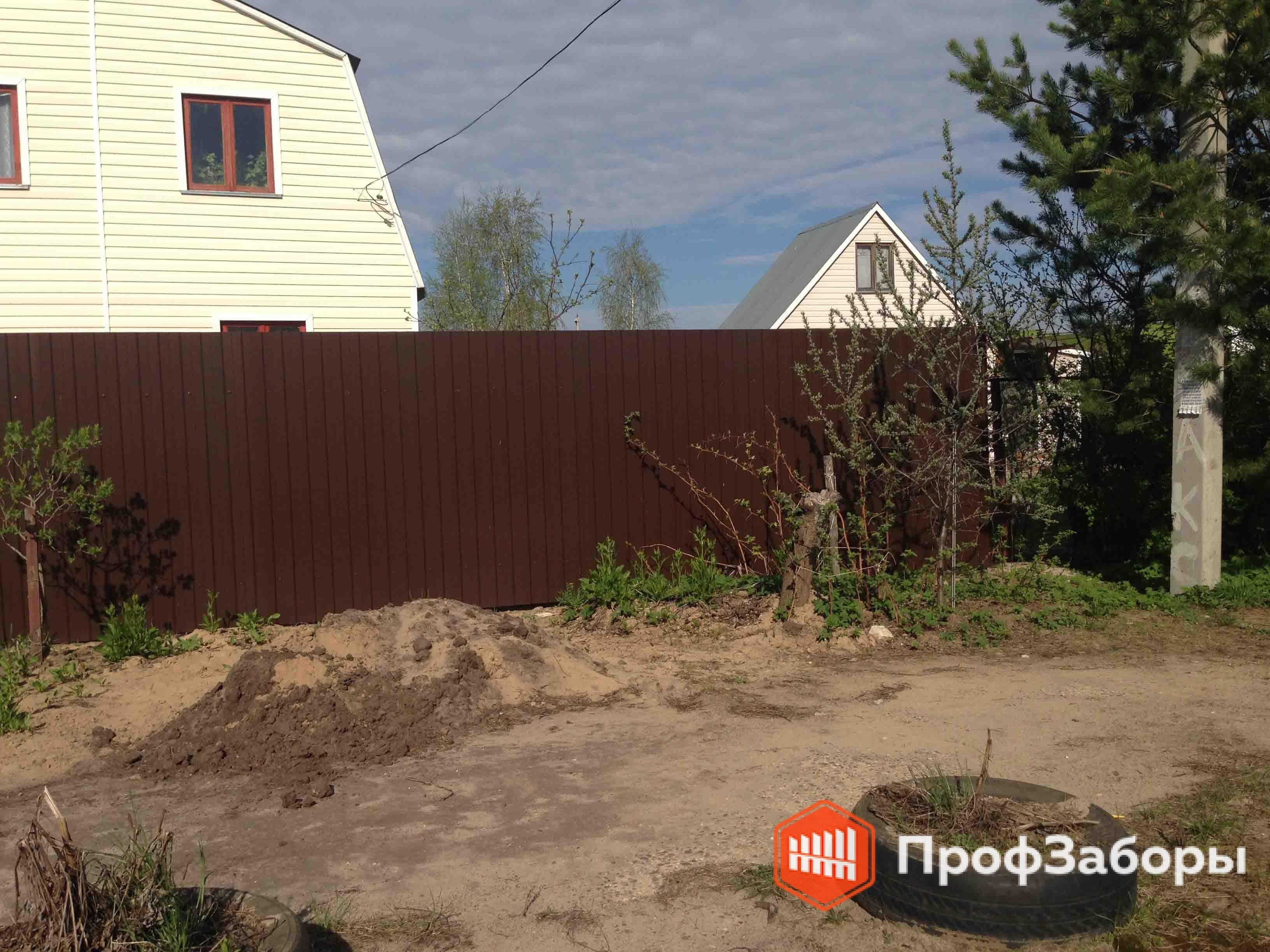 Заборы Из профнастила  - Одинцовский район. Фото 3