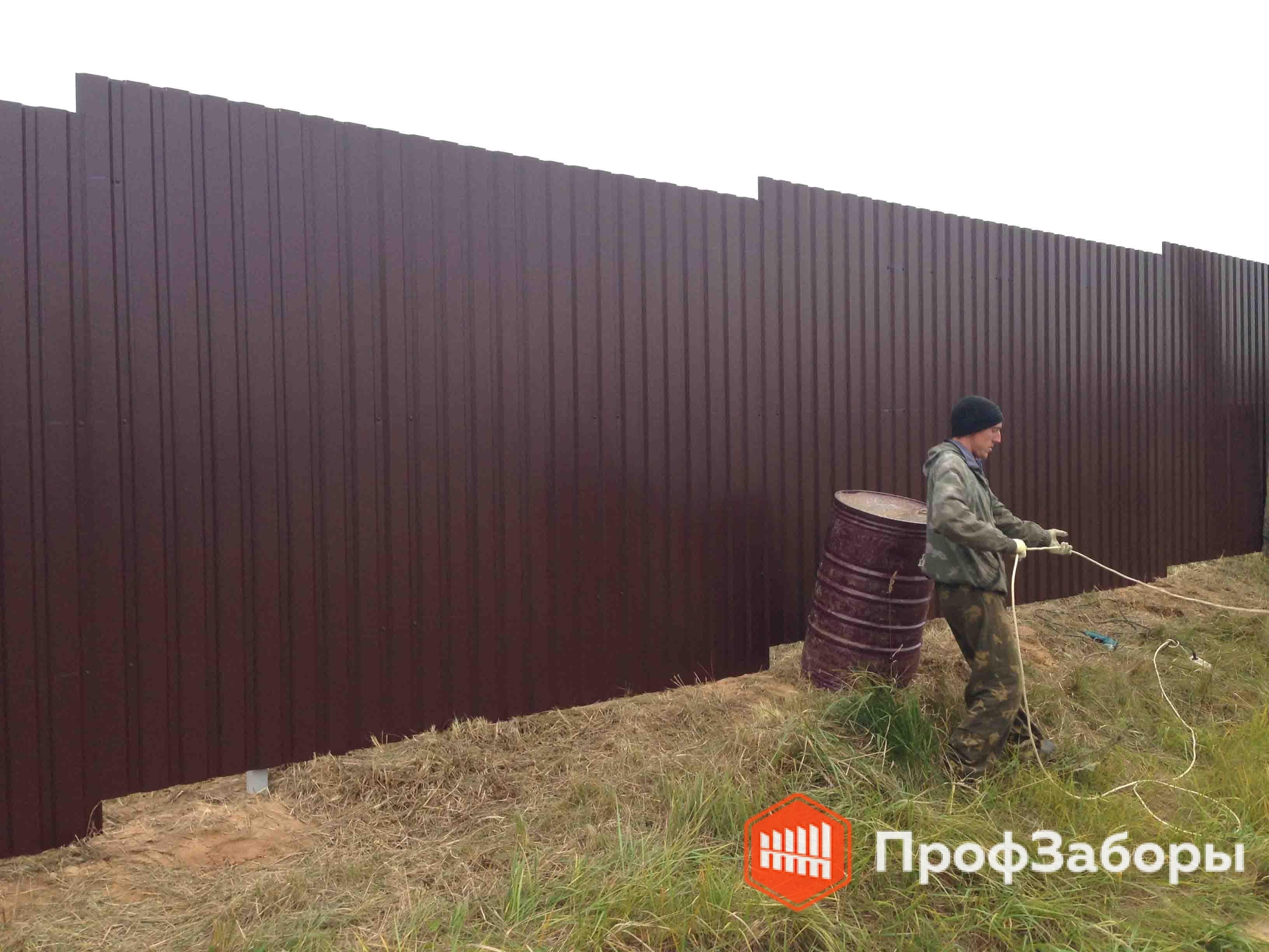 Заборы Из профнастила  - Город Химки. Фото 2