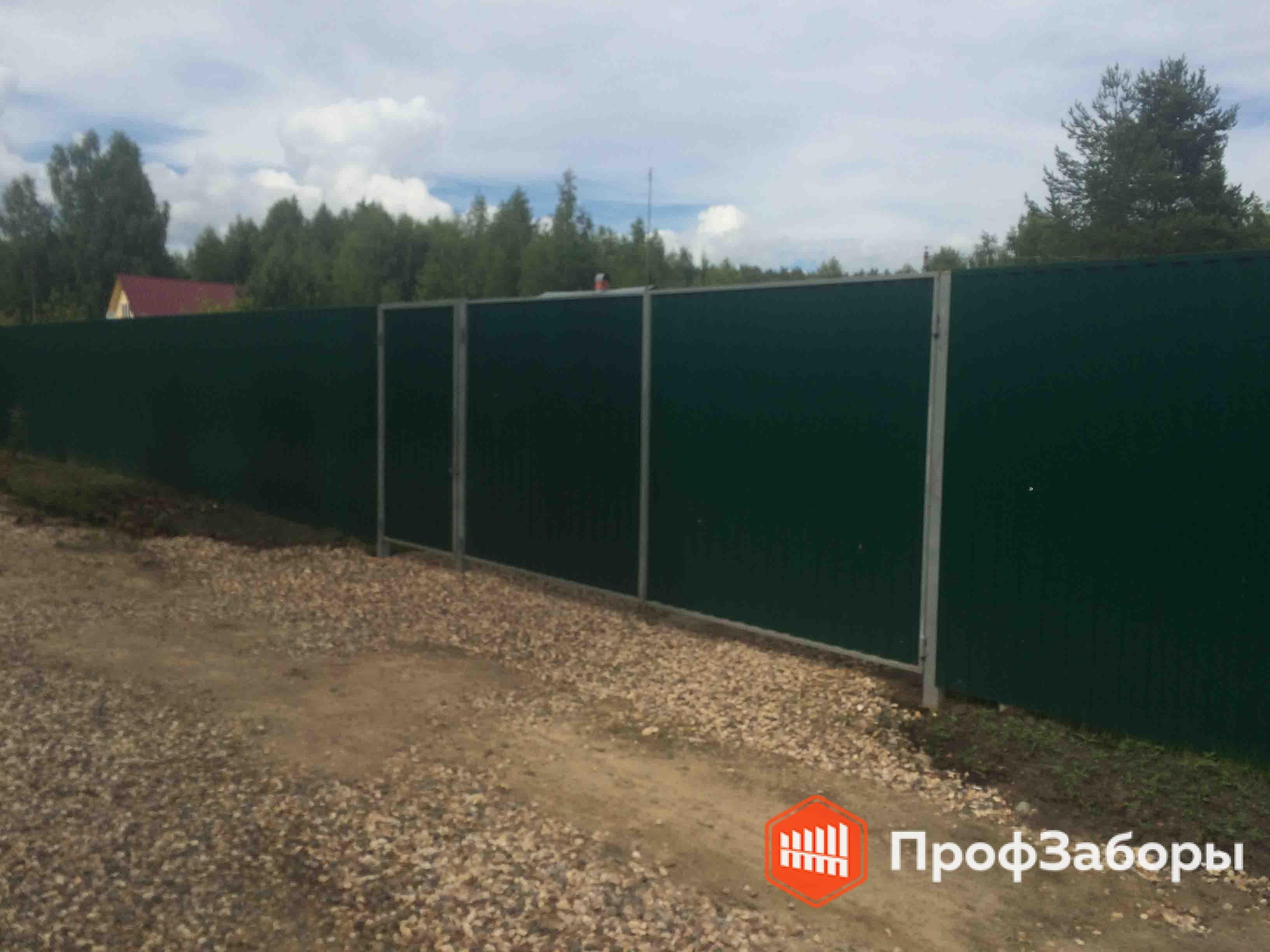 Заборы Из профнастила  - Пушкинский район. Фото 3