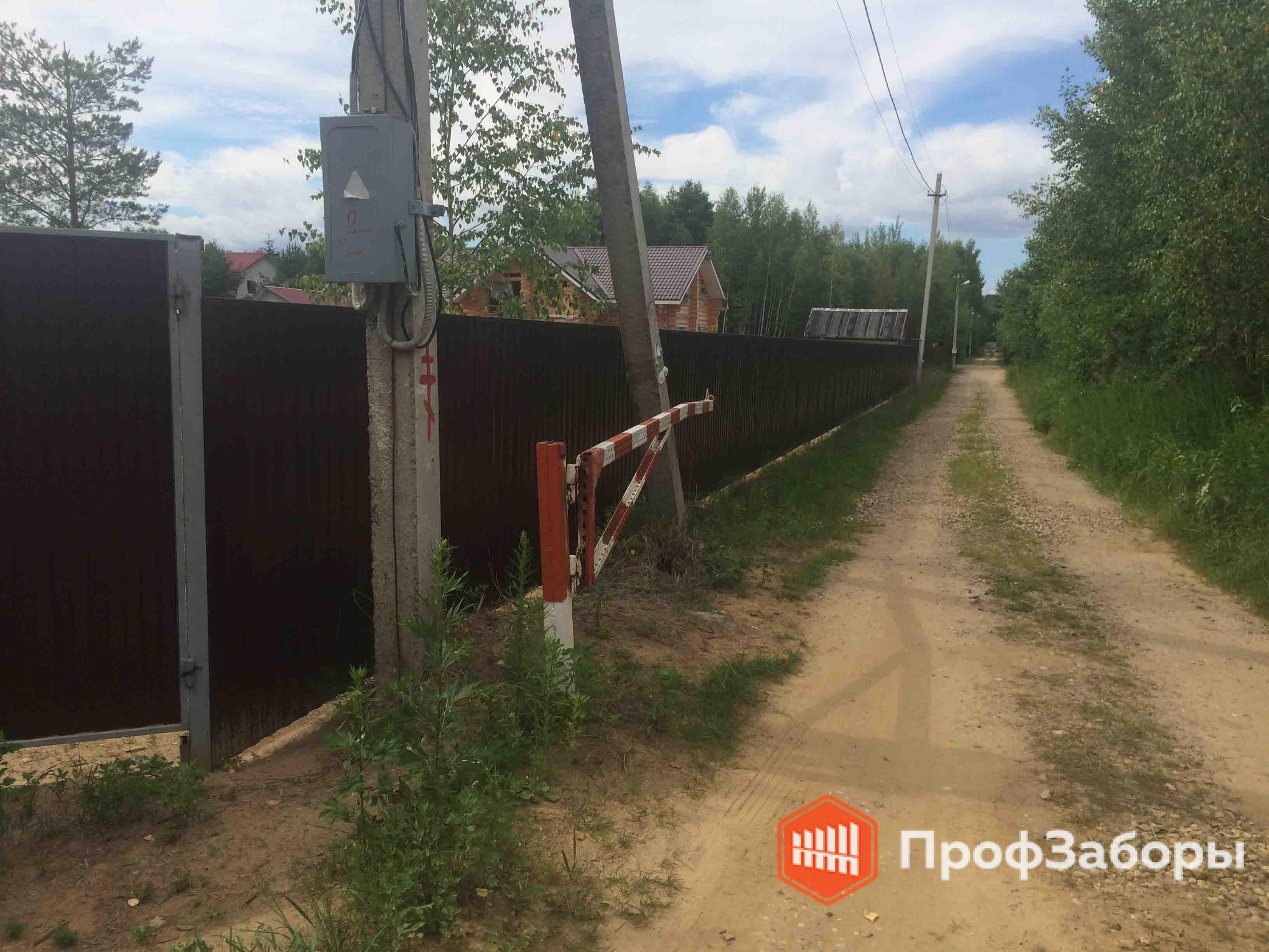 Заборы Из профнастила  - Город Куровское. Фото 3