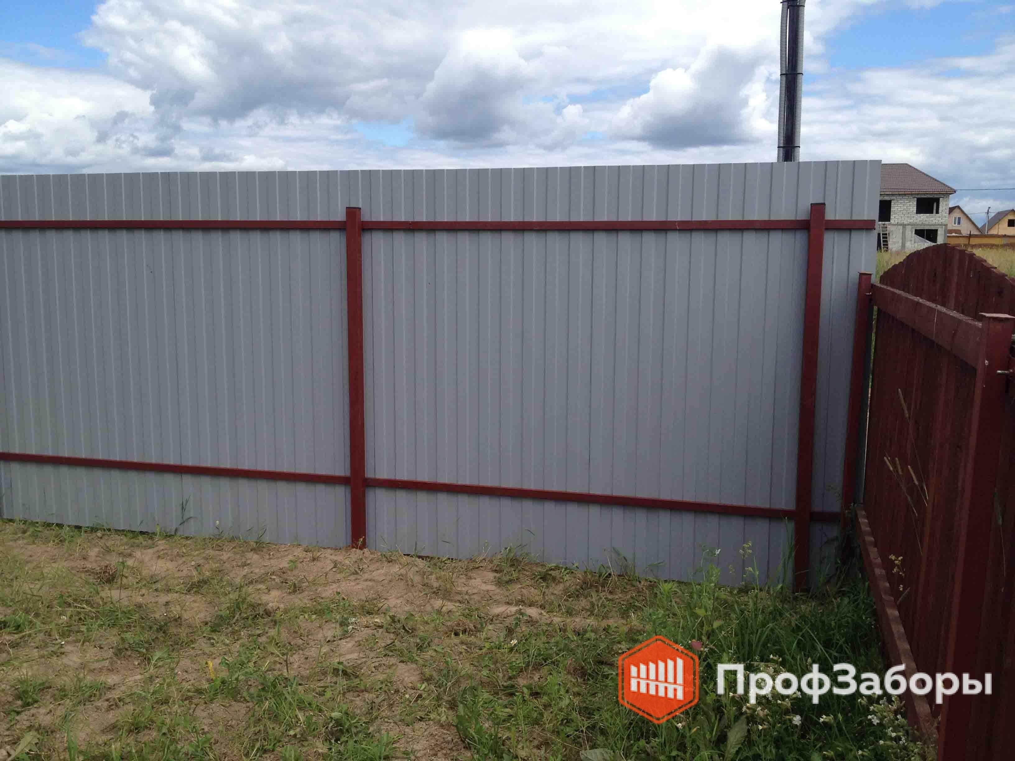 Заборы Из профнастила  - СергиевоПосадский район. Фото 4