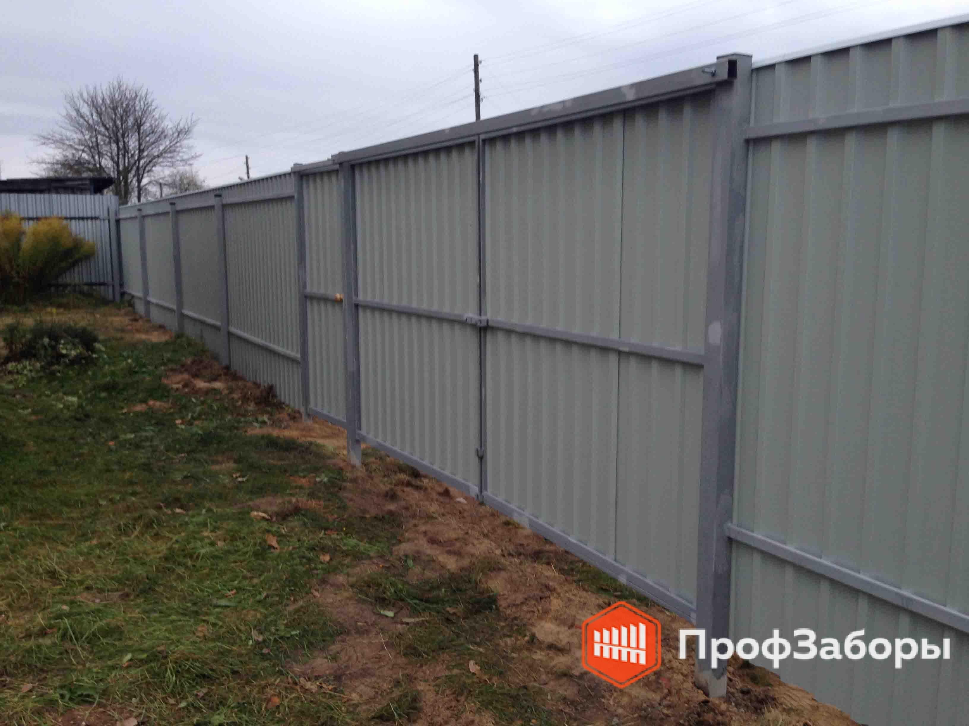 Заборы Из профнастила  - Солнечногорский район. Фото 4
