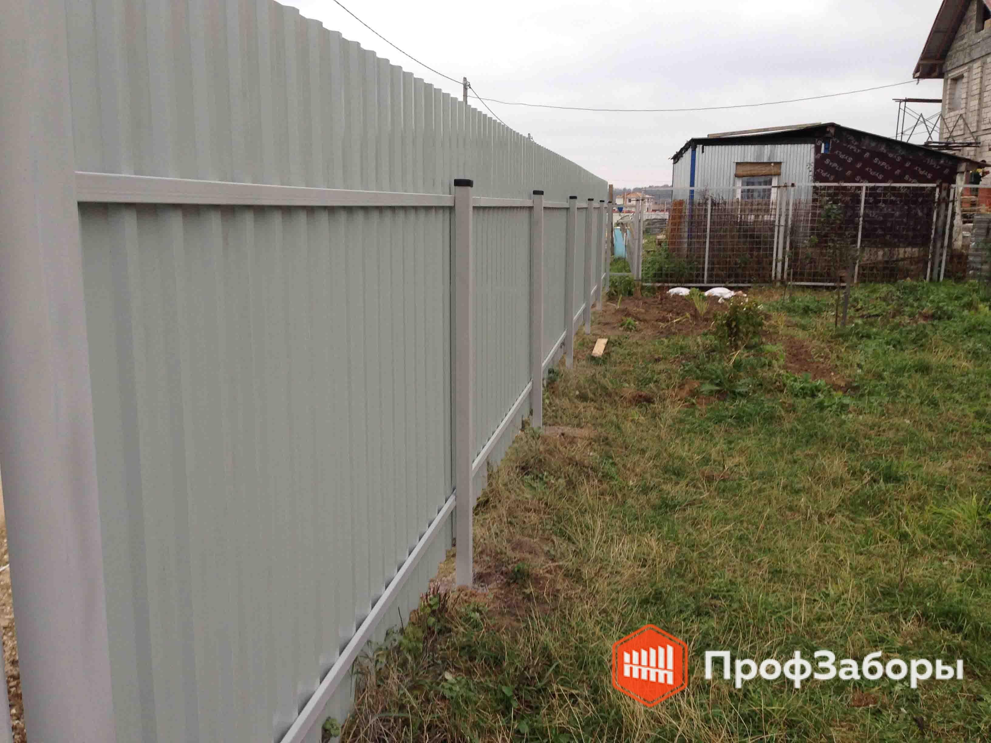 Заборы Из профнастила  - Городской округ Бронницы. Фото 2