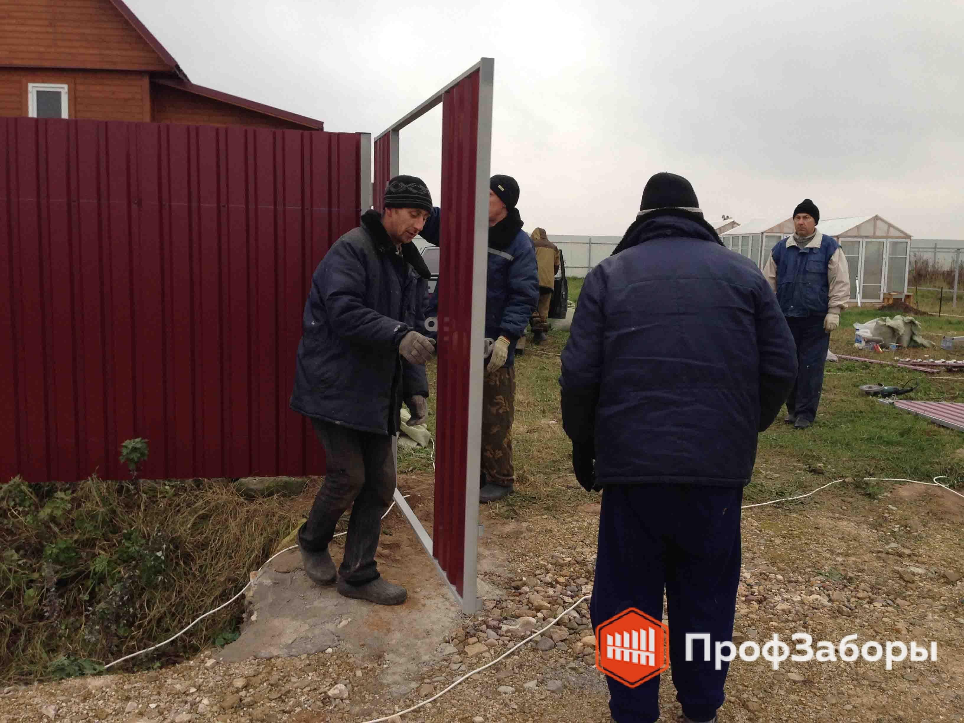 Заборы Из профнастила  - Городской округ Бронницы. Фото 4