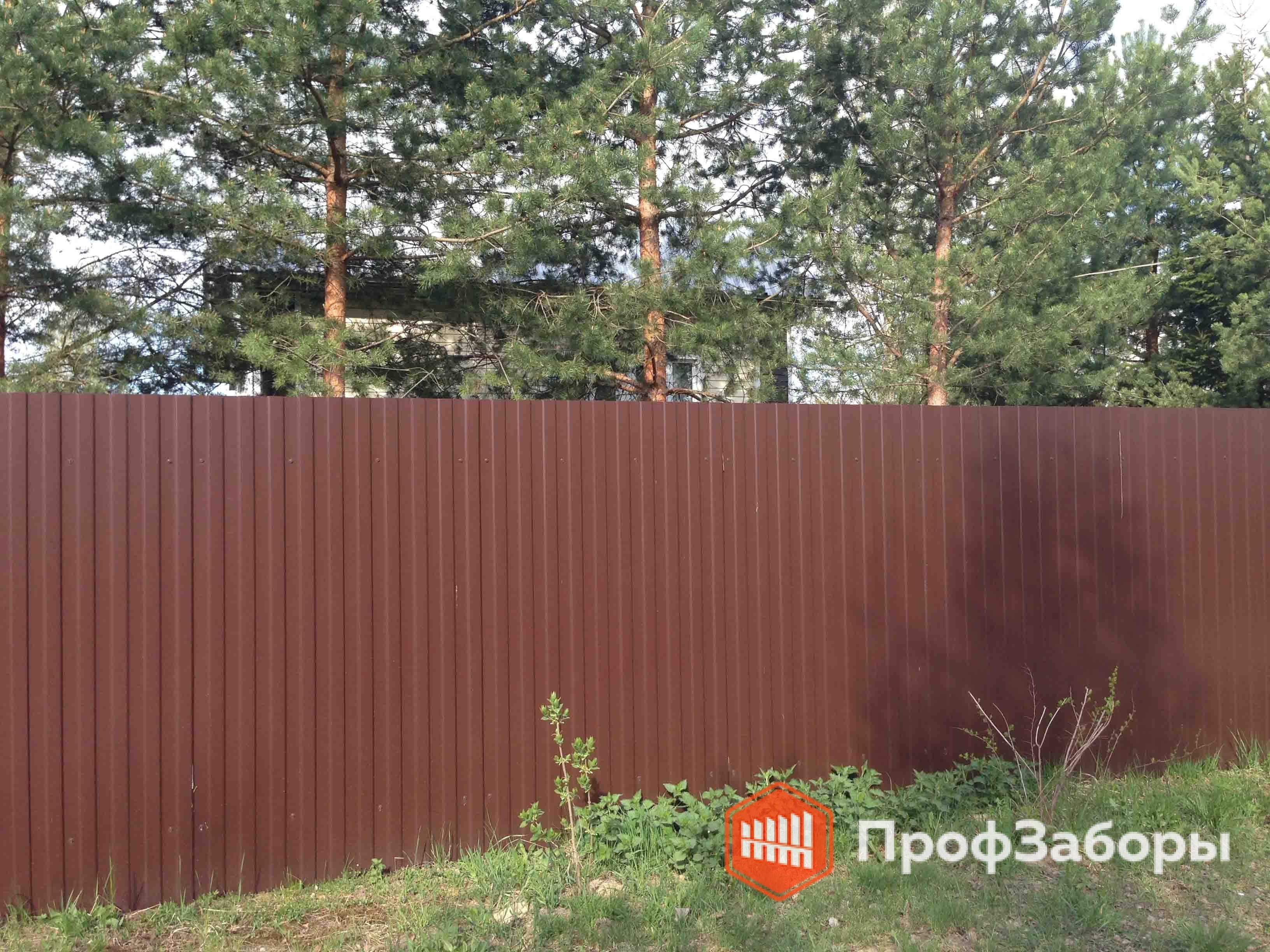 Заборы Из профнастила  - Пушкинский район. Фото 2