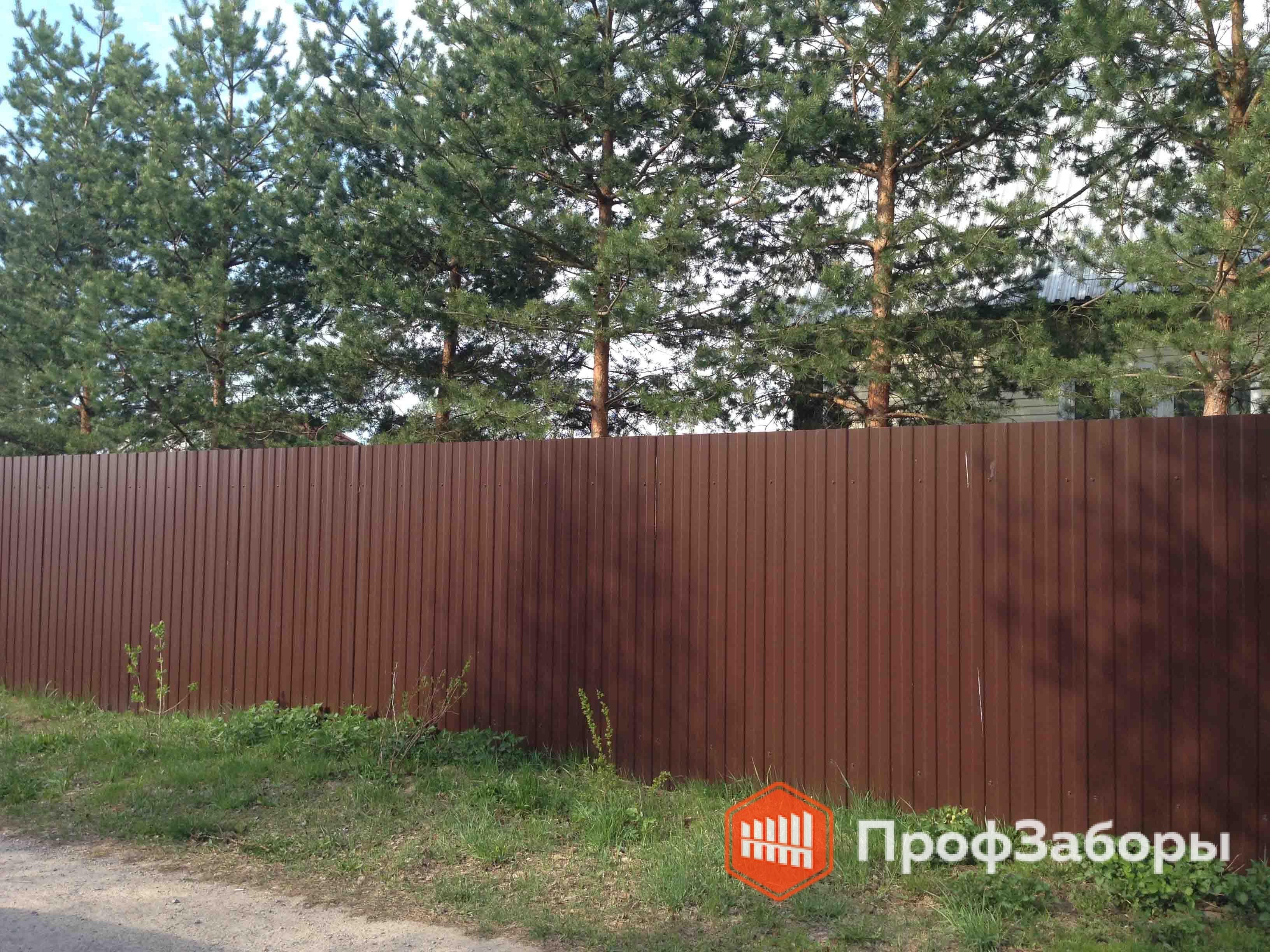 Заборы Из профнастила  - Пушкинский район. Фото 4
