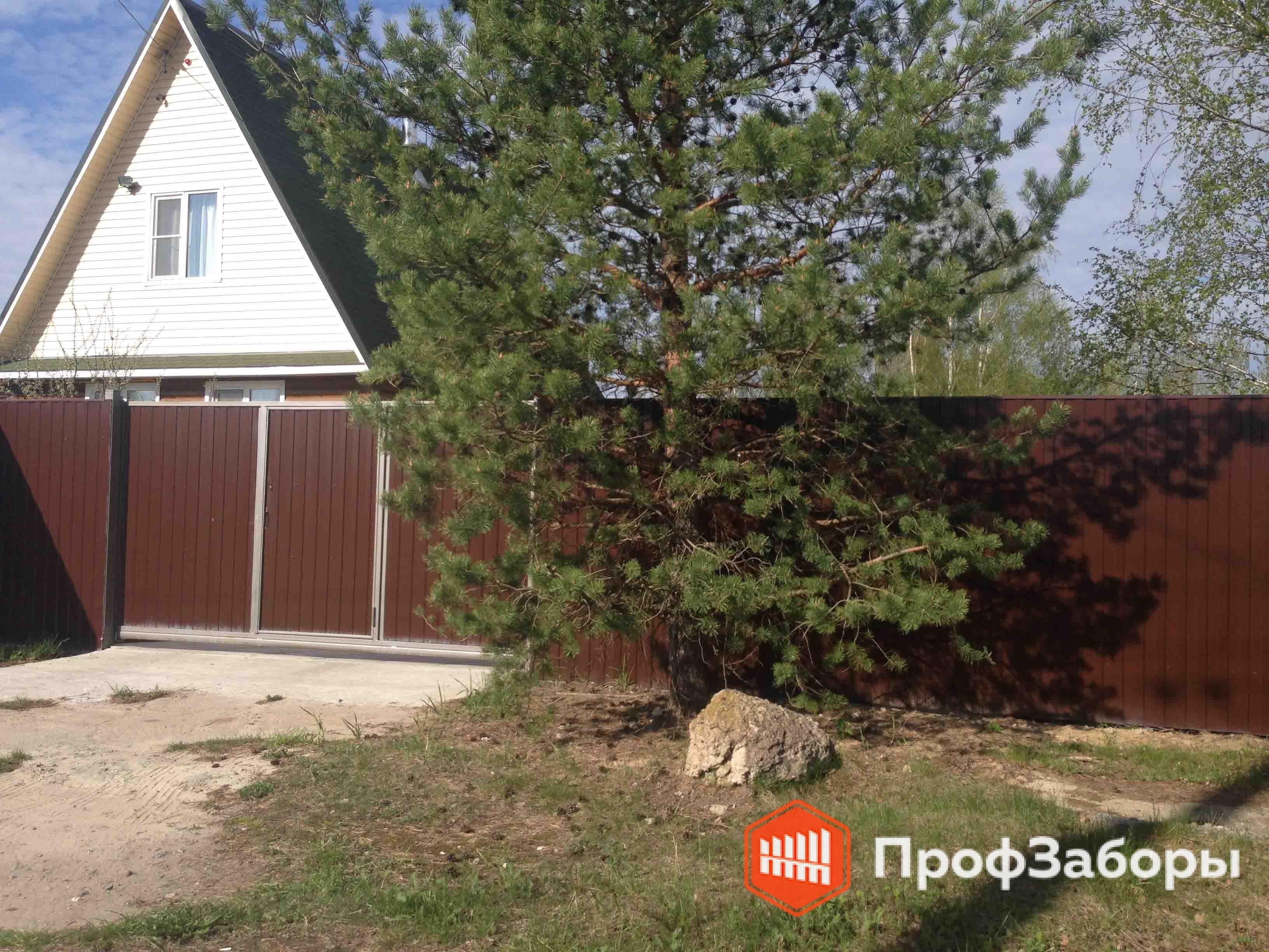 Заборы Из профнастила  - Можайский район. Фото 4
