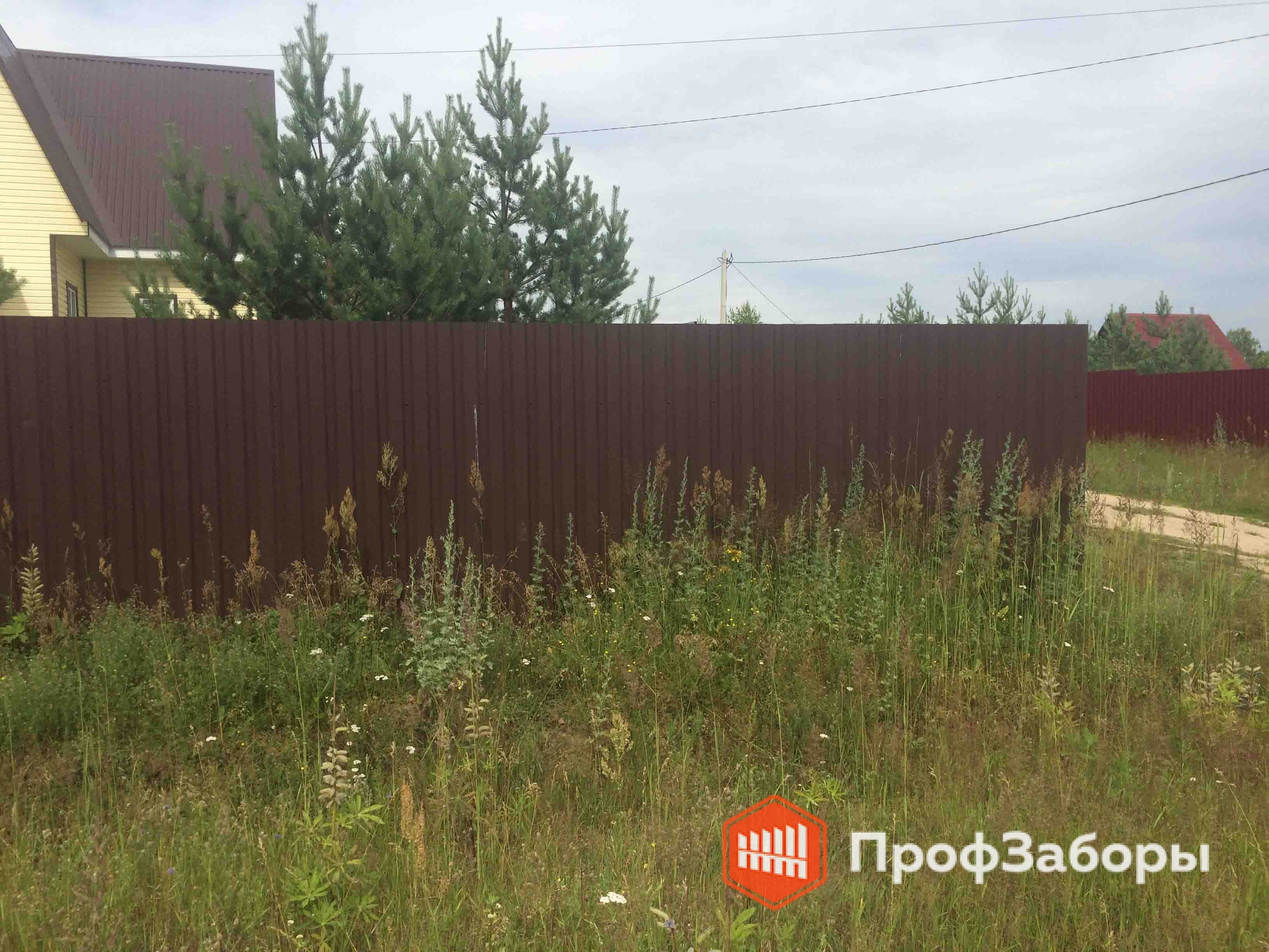 Заборы Из профнастила  - Посёлок Дорохово. Фото 3