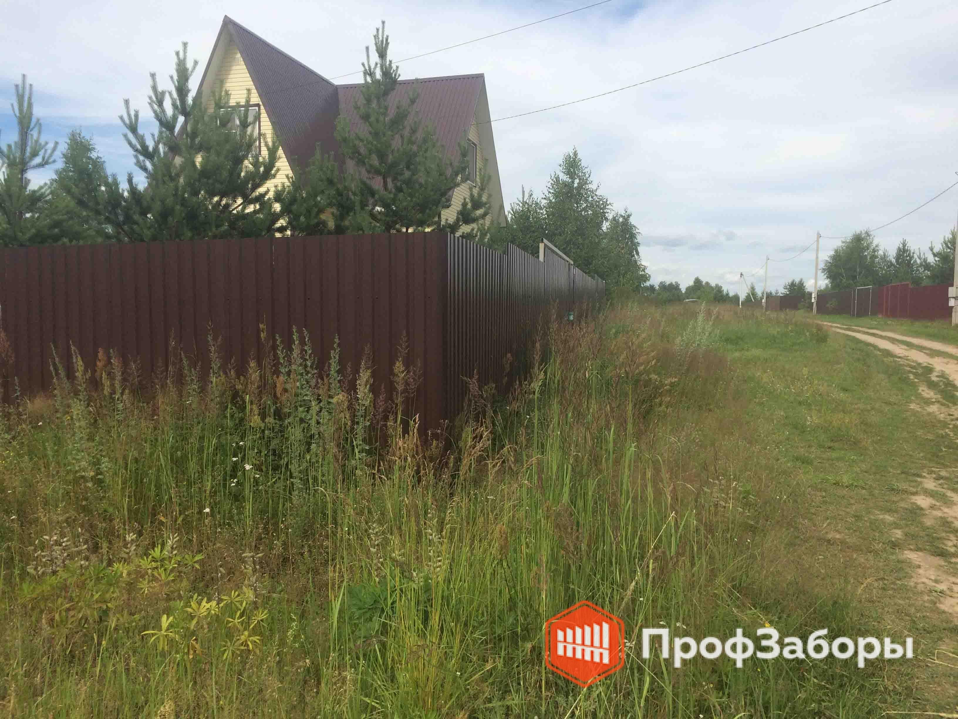 Заборы Из профнастила  - Посёлок Дорохово. Фото 4