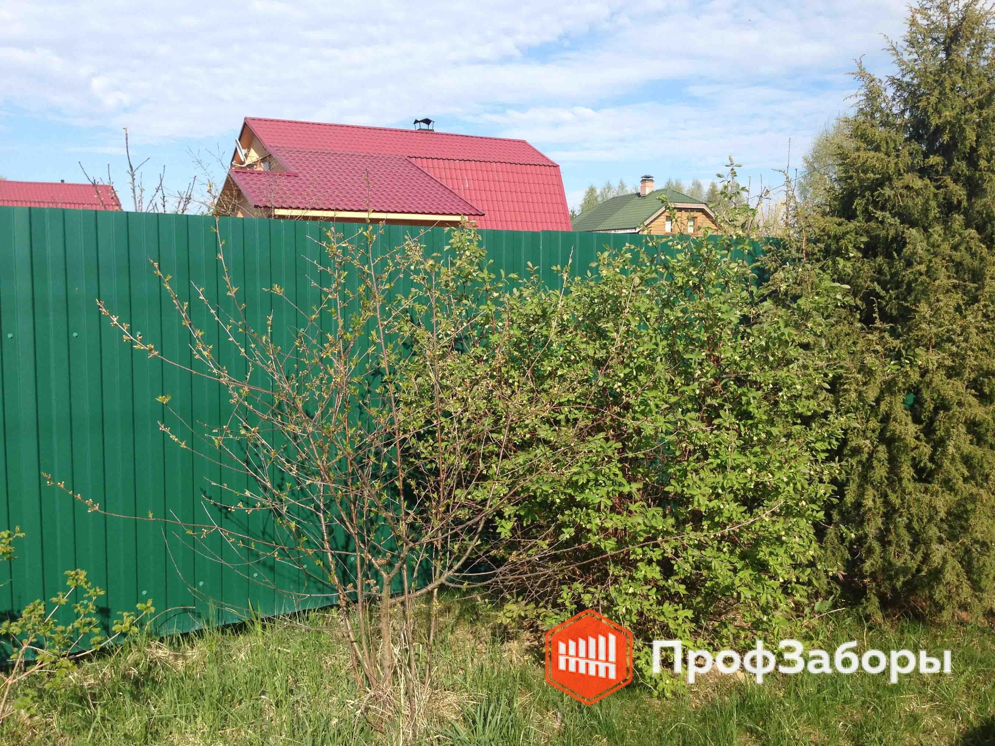 Заборы Из профнастила  - Деревня Александрово. Фото 2