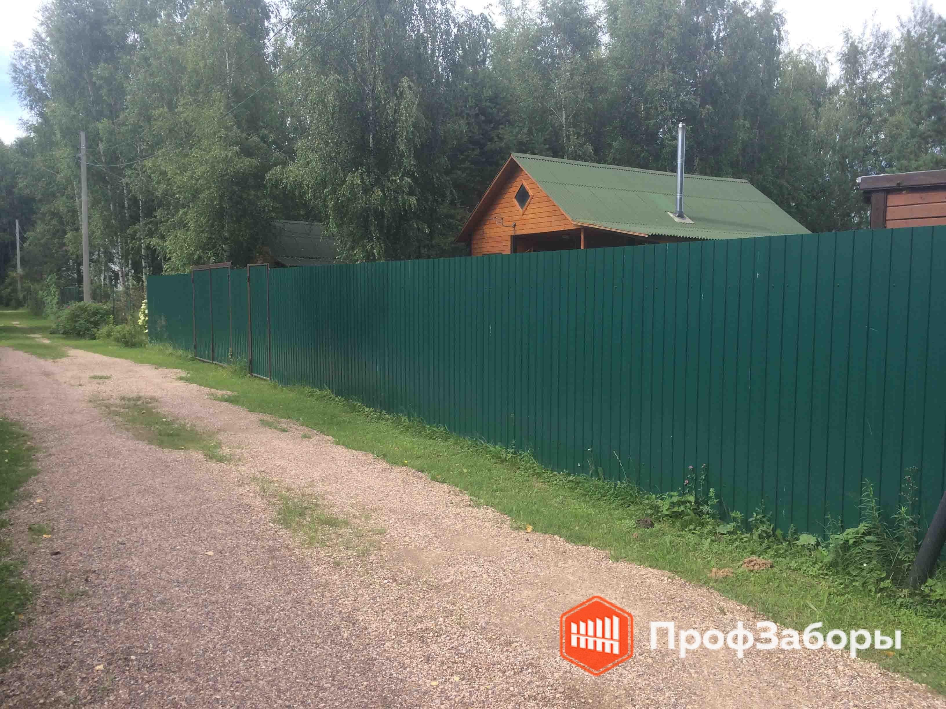 Заборы Из профнастила  - Серпуховский район. Фото 4