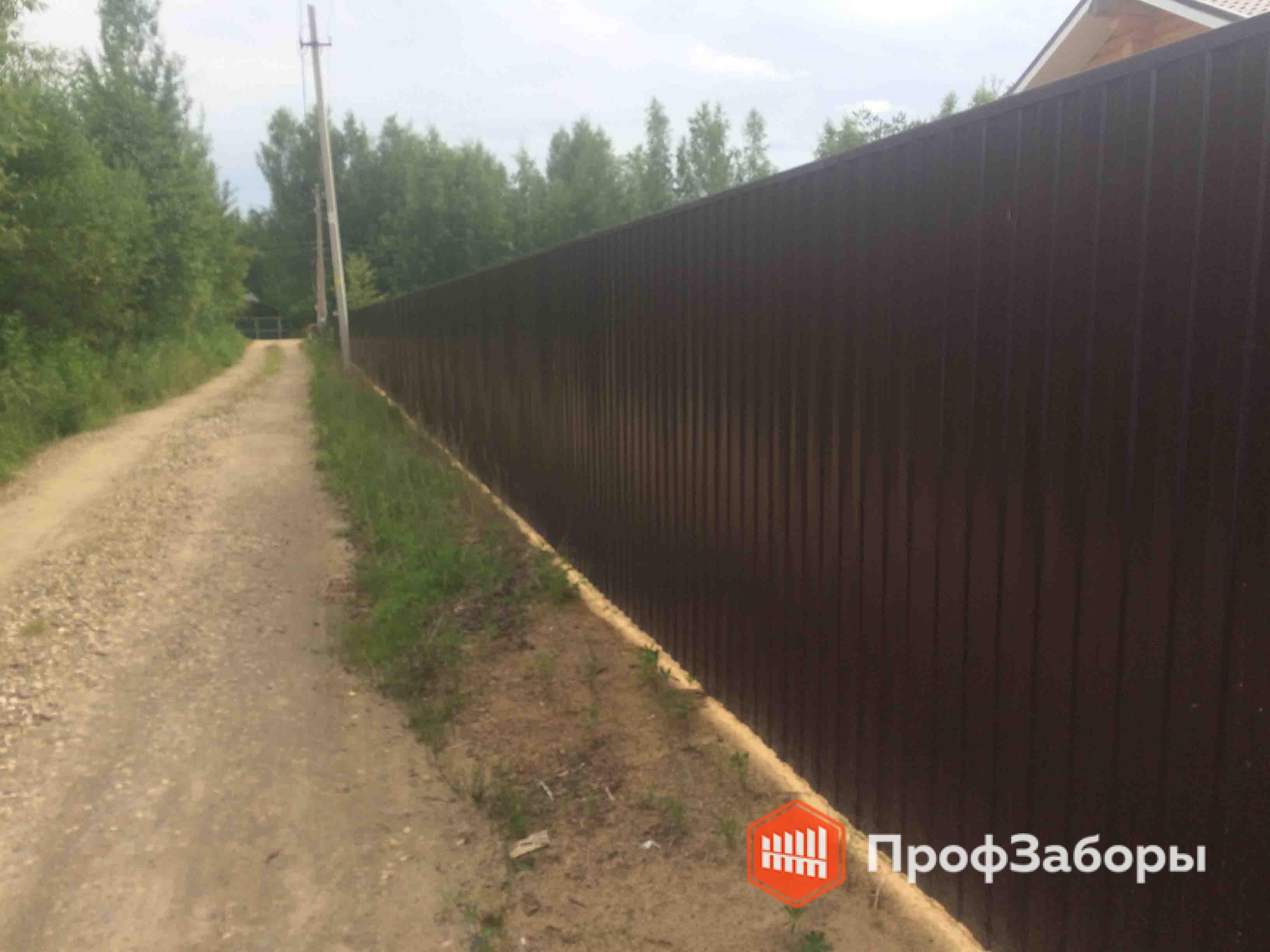 Заборы Из профнастила  - Село Бояркино. Фото 2