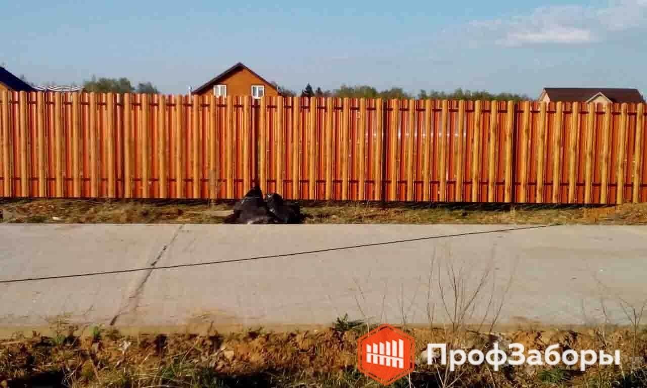 Заборы Из евроштакетника - Волоколамский район. Фото 4