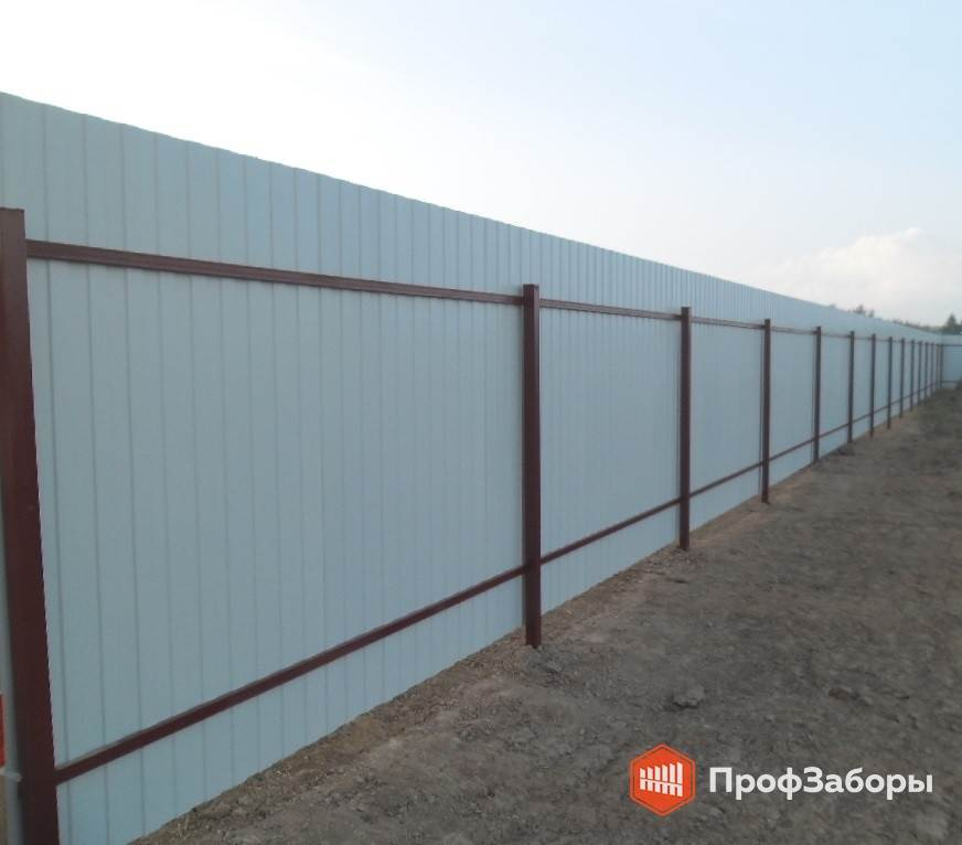 Заборы Из профнастила  - Рязанская область. Фото 3