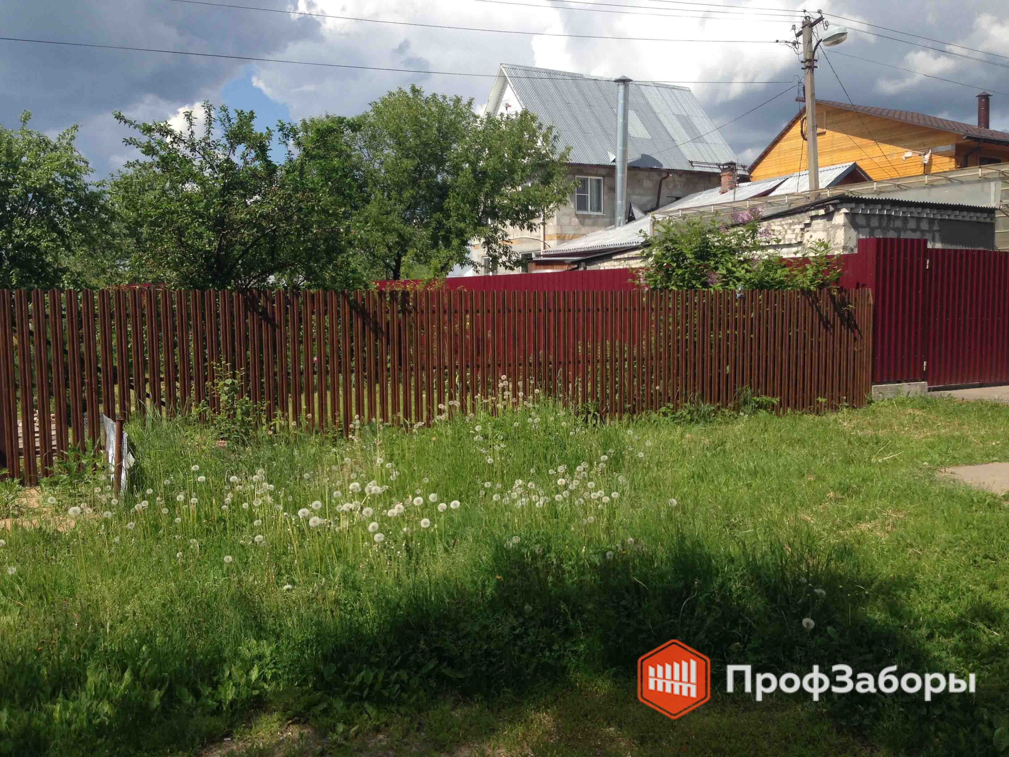 Заборы Из евроштакетника - Рязанская область. Фото 4