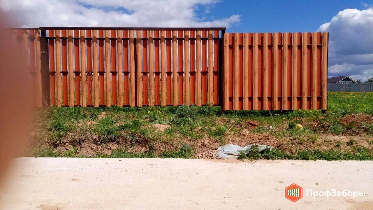 Заборы Из евроштакетника - Ногинский район. Фото 3