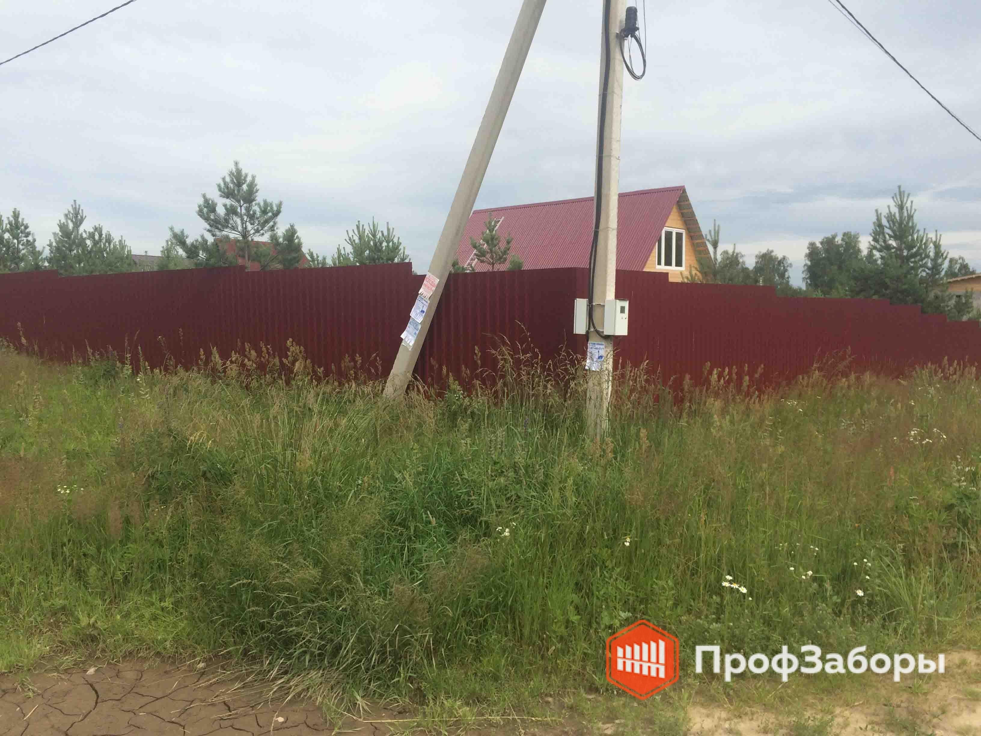 Заборы Из профнастила  - Городской округ Чехов. Фото 2