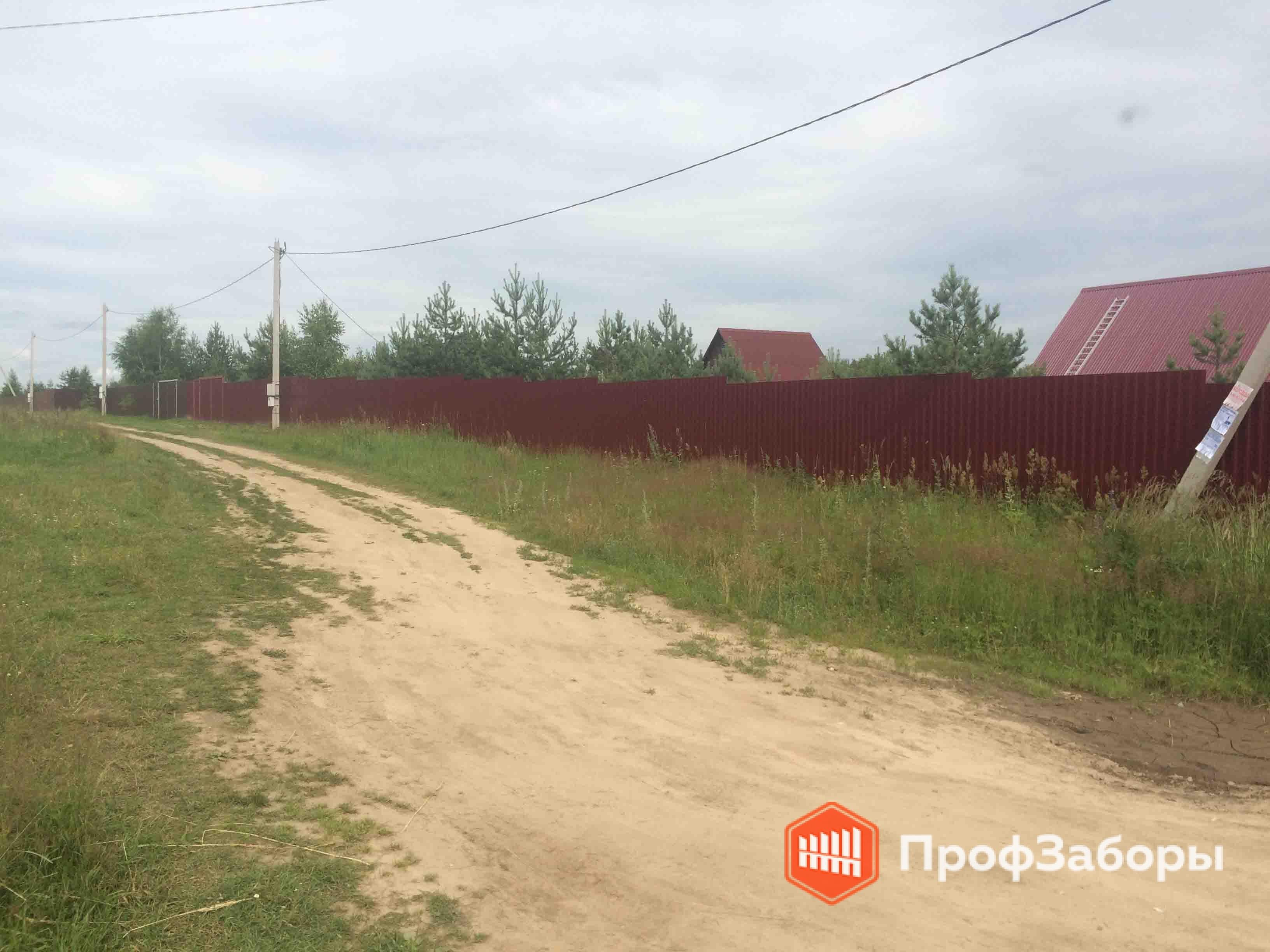 Заборы Из профнастила  - Городской округ Чехов. Фото 3