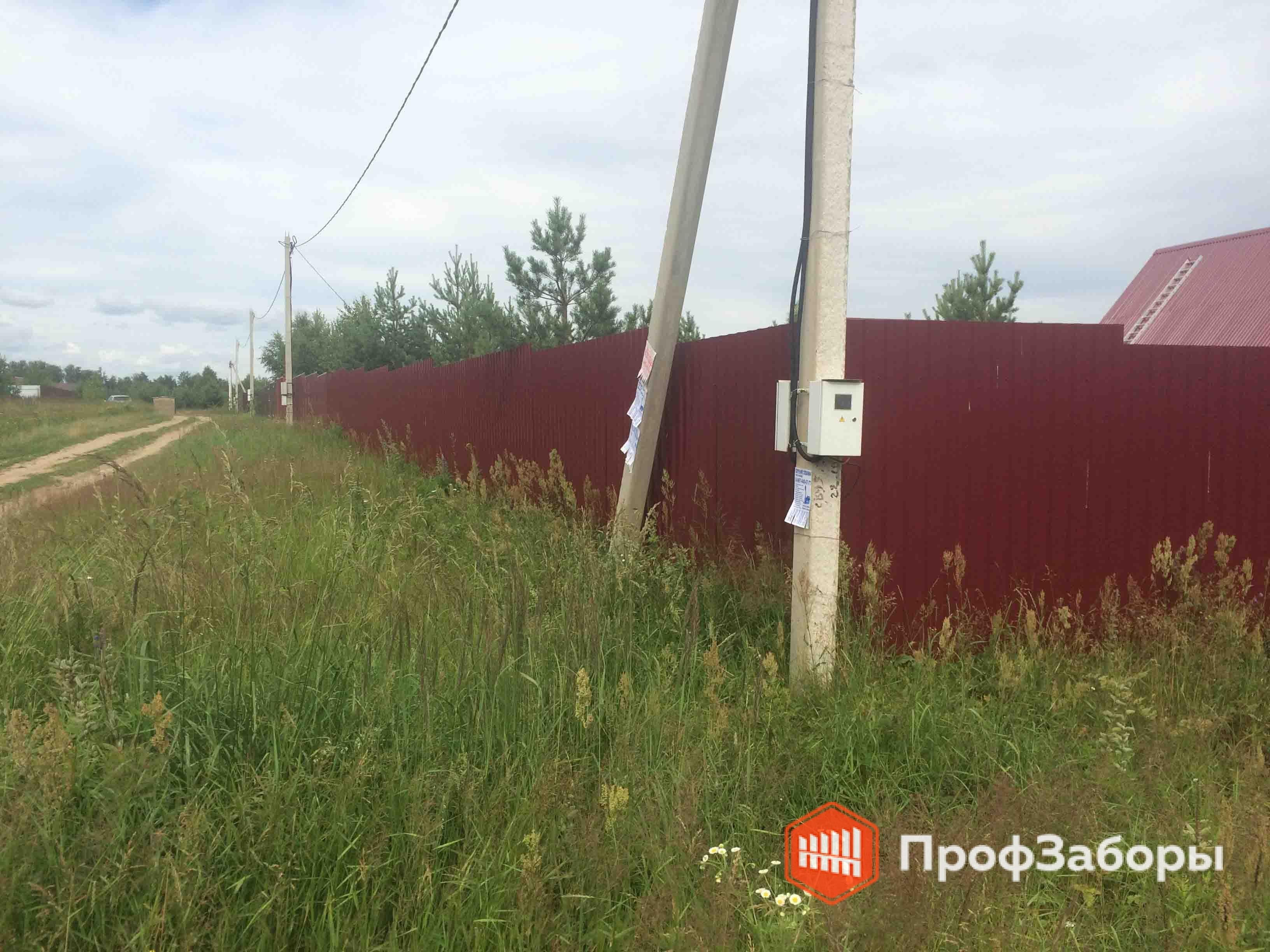 Заборы Из профнастила  - Городской округ Чехов. Фото 4