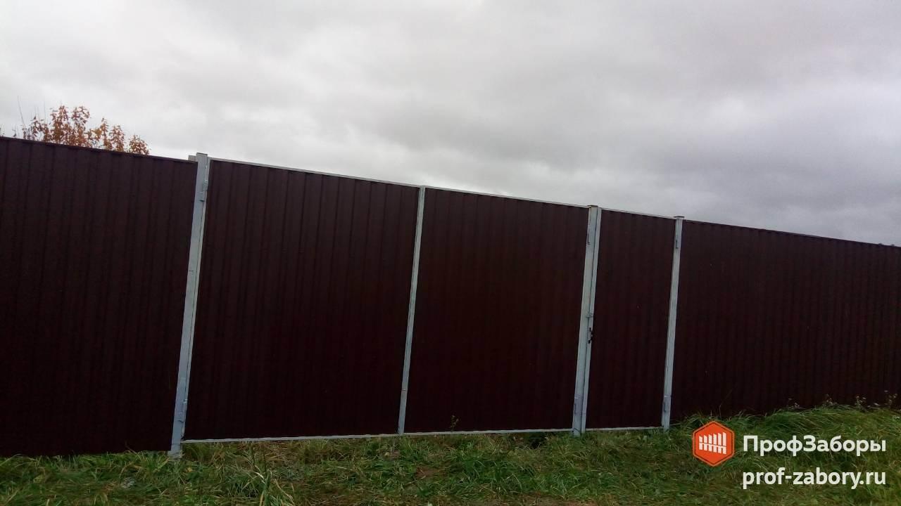 Заборы Из профнастила  - Городской округ Ступино. Фото 2