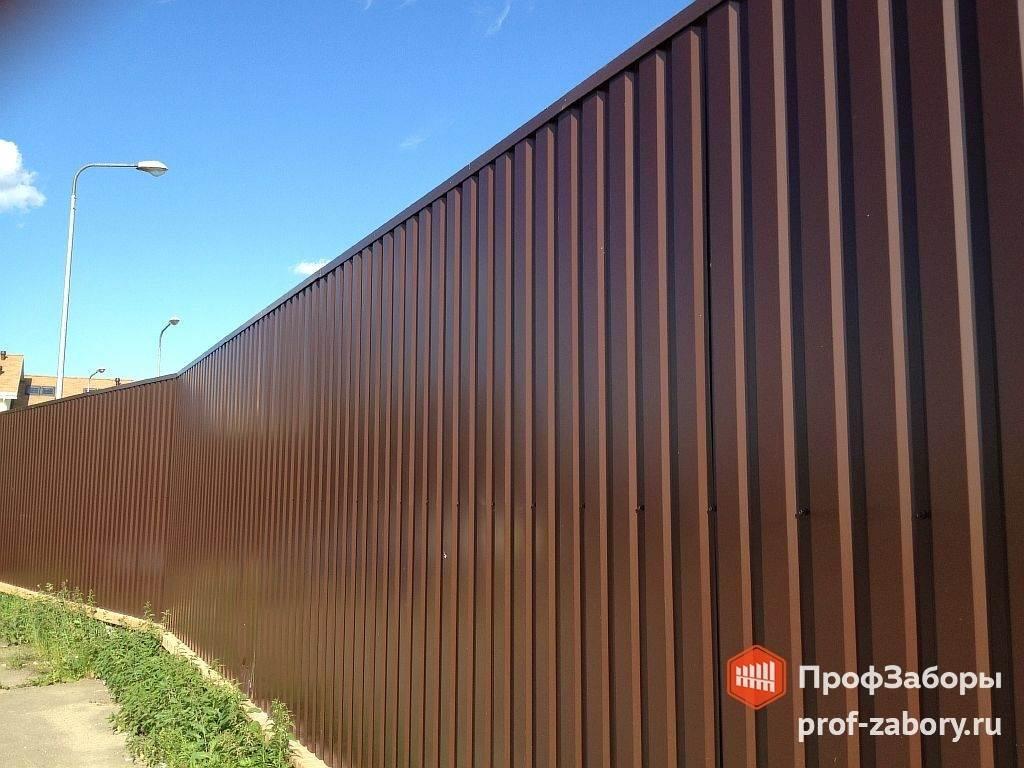 Забор из профнастила 6