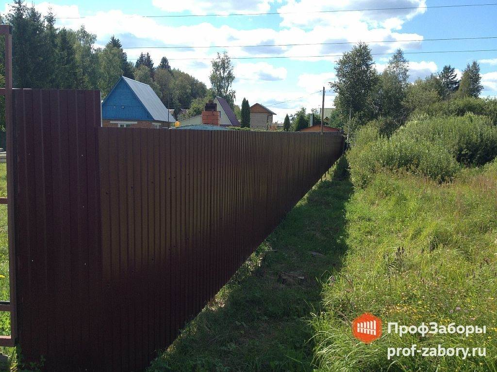Забор из профнастила 7