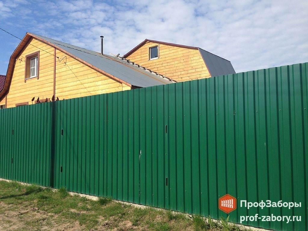 Забор из профнастила 10