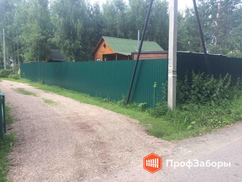 Заборы Из профнастила  - Серпуховский район. Фото 1