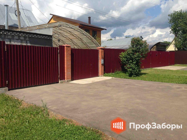 Заборы Из профнастила  - Волоколамский район. Фото 1