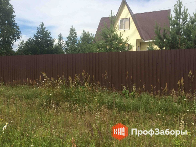 Заборы Из профнастила  - Посёлок Дорохово. Фото 1