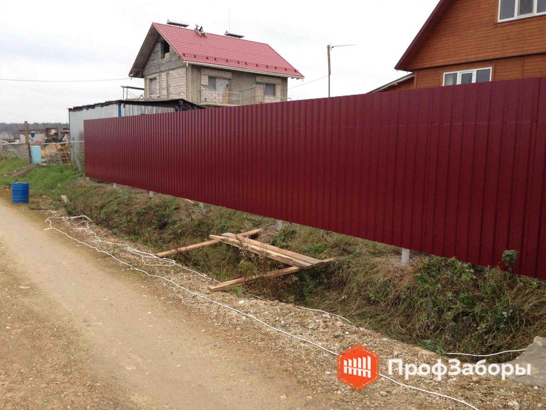 Заборы Из профнастила  - Городской округ Бронницы. Фото 1
