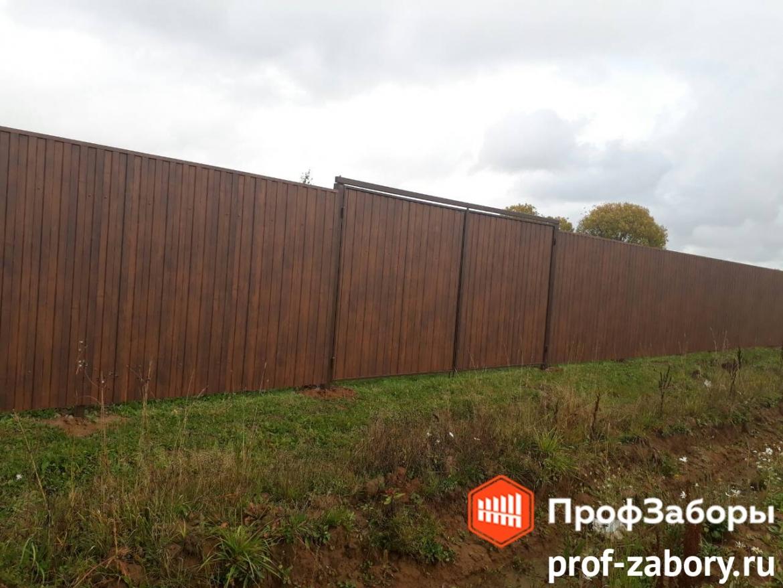 Заборы Из профнастила  - Городской округ Мытищи. Фото 1