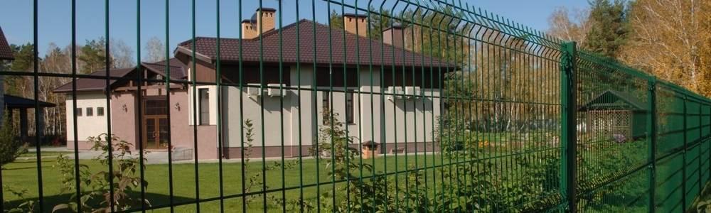 3D забор для загородного дома