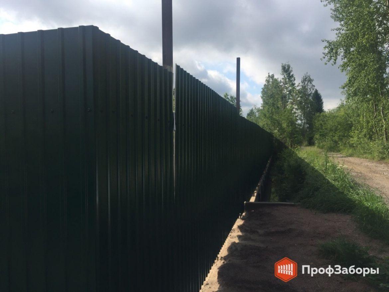Заборы Из профнастила  - СергиевоПосадский район. Фото 1