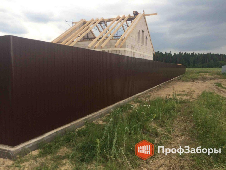 Заборы Из профнастила  - Ивановская область. Фото 1