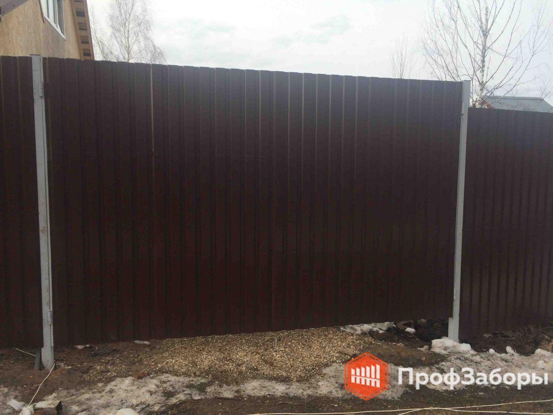Заборы Из профнастила  - Владимирская область. Фото 1