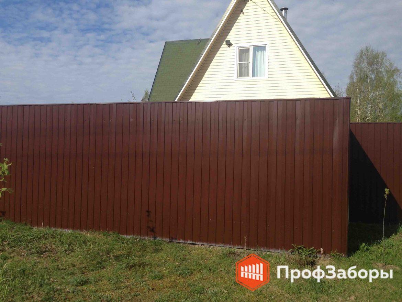Заборы Из профнастила  - Можайский район. Фото 1